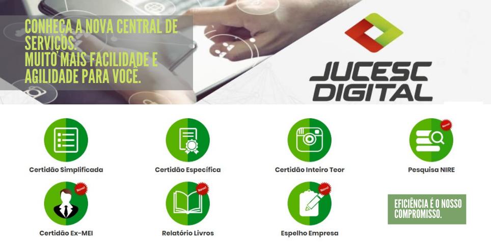 JUCESC implanta uma nova Central de Serviços em seu site