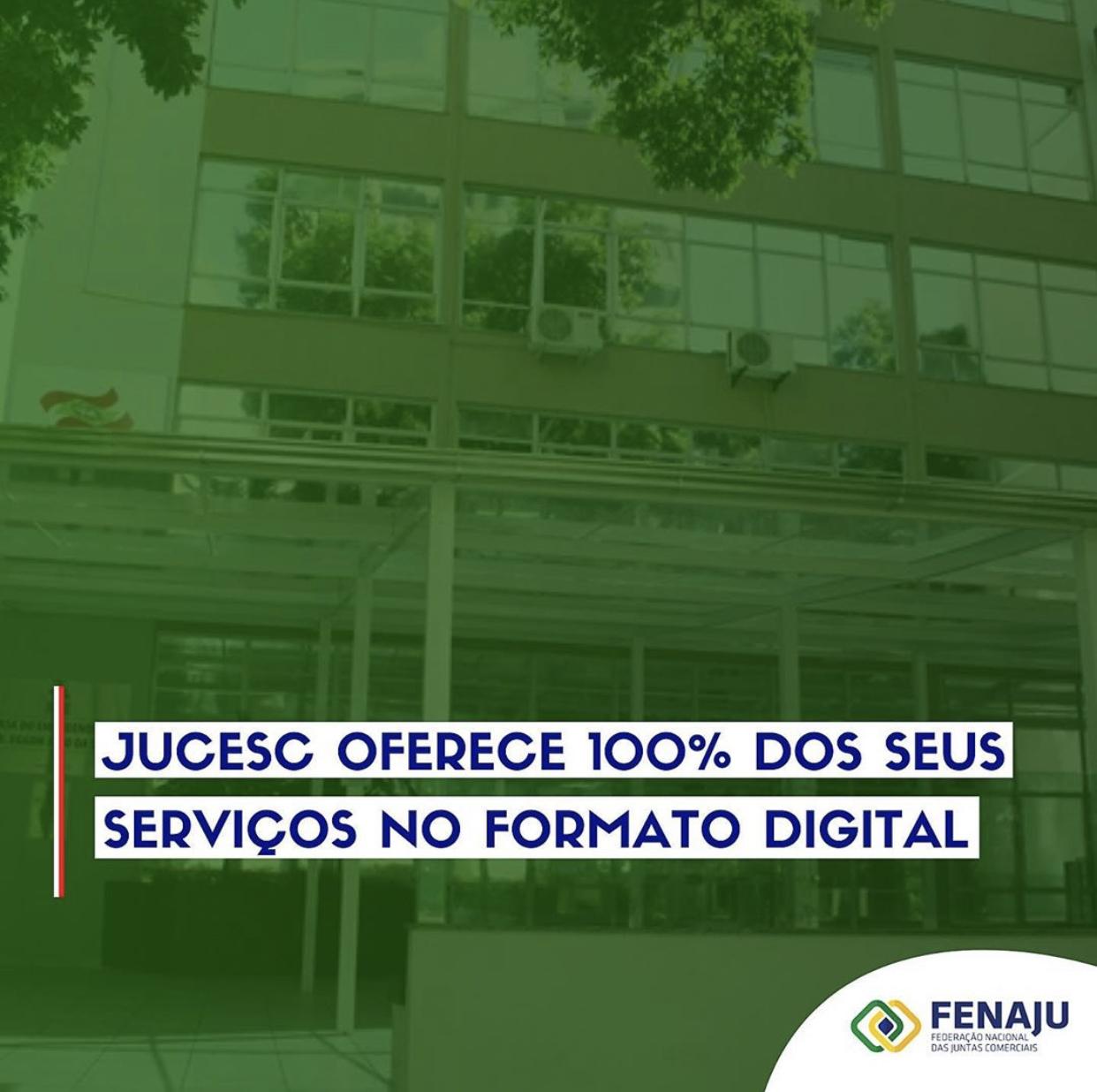 JUCESC oferece 100% dos seus serviços no formato digital