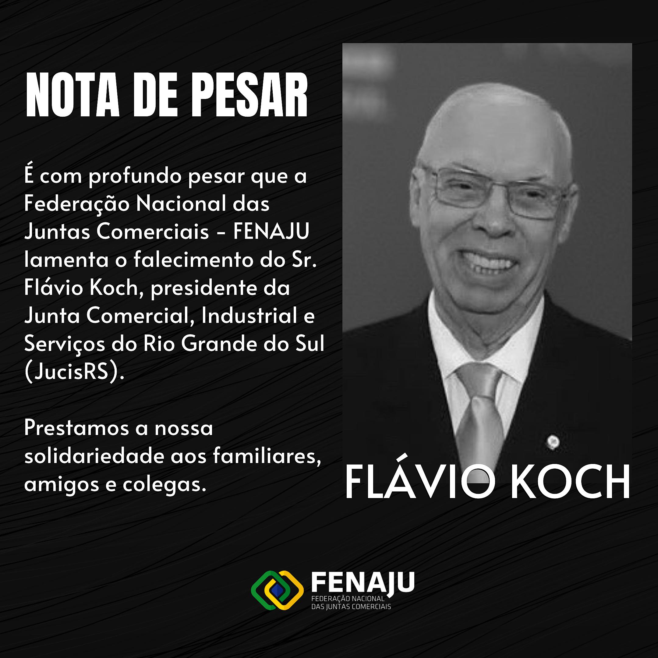 NOTA DE PESAR – FLÁVIO KOCH