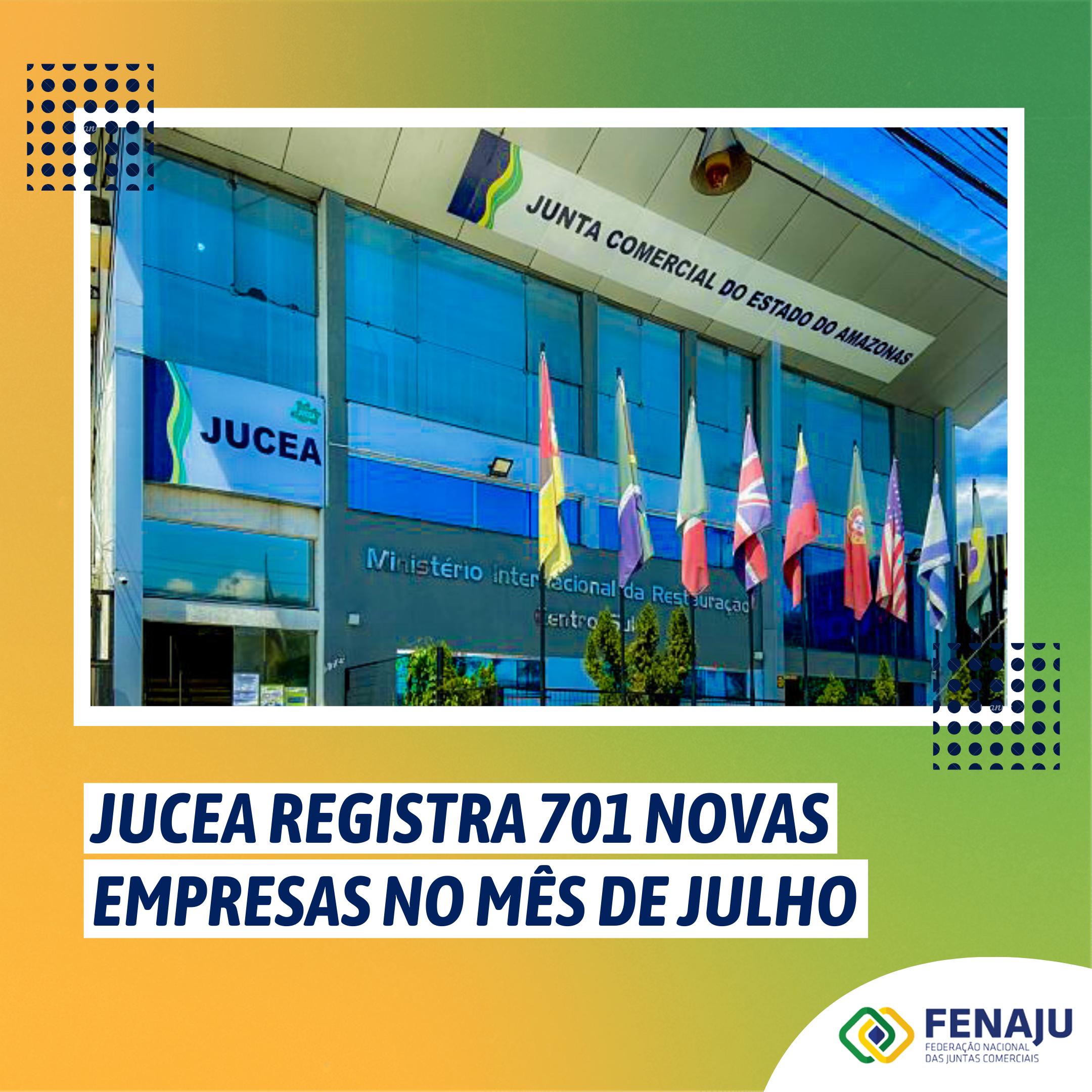 JUCEA registra 701 novas empresas no mês de julho