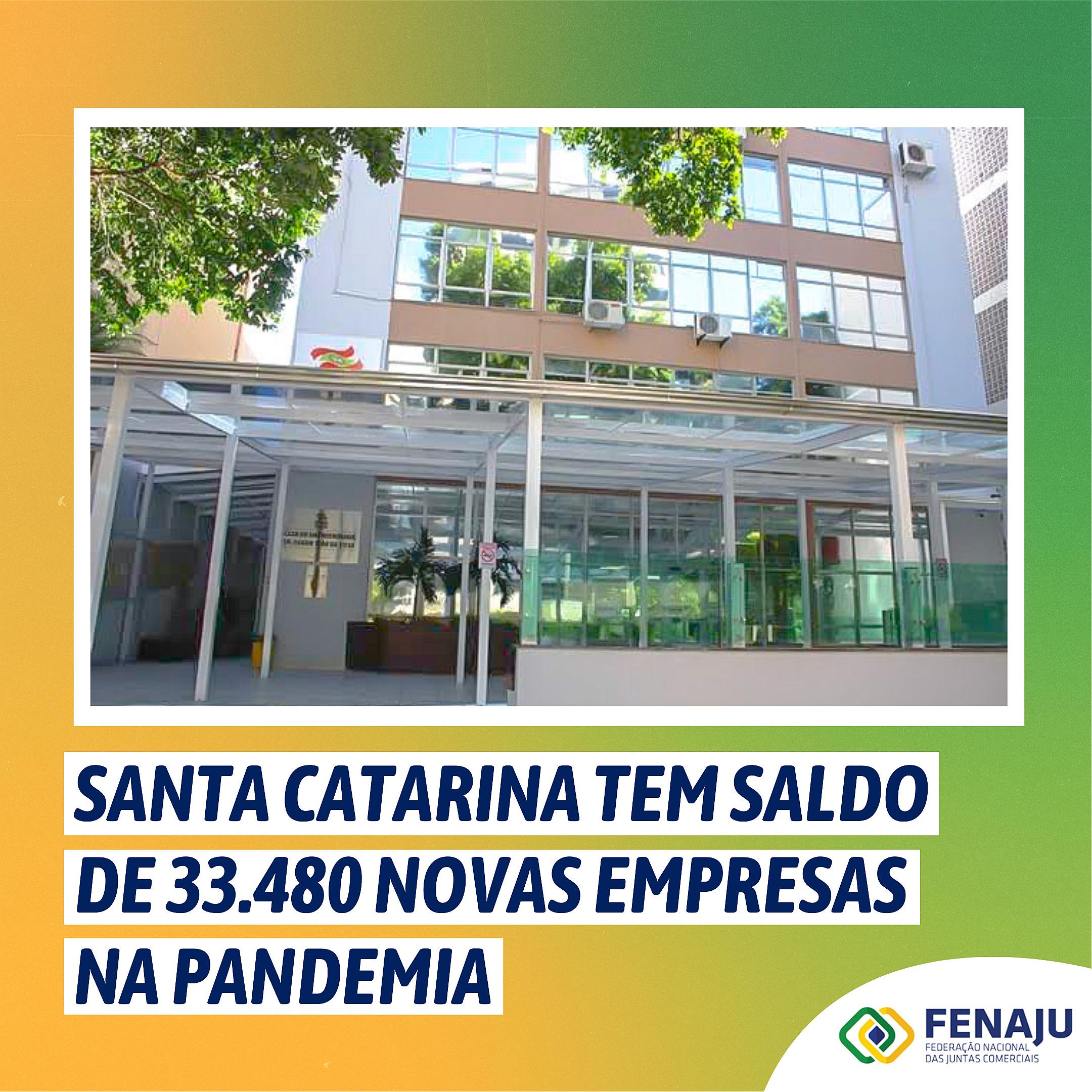Santa Catarina tem saldo de 33.480 novas empresas na pandemia
