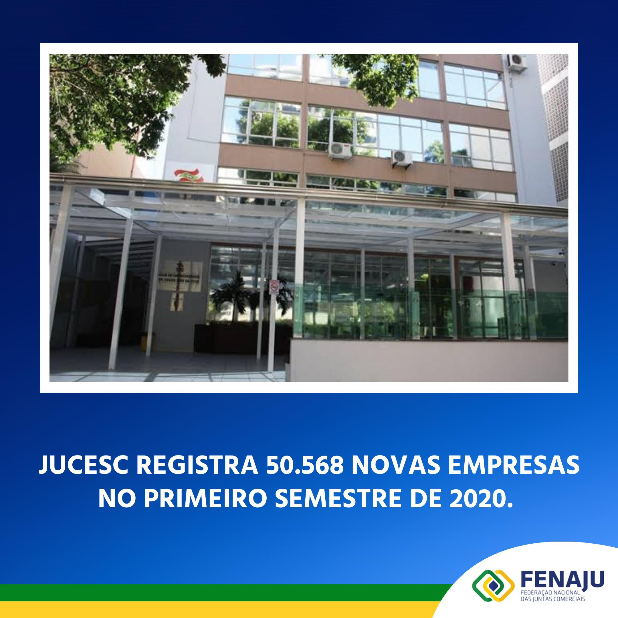 Jucesc registra 50.568 novas empresas no primeiro semestre de 2020