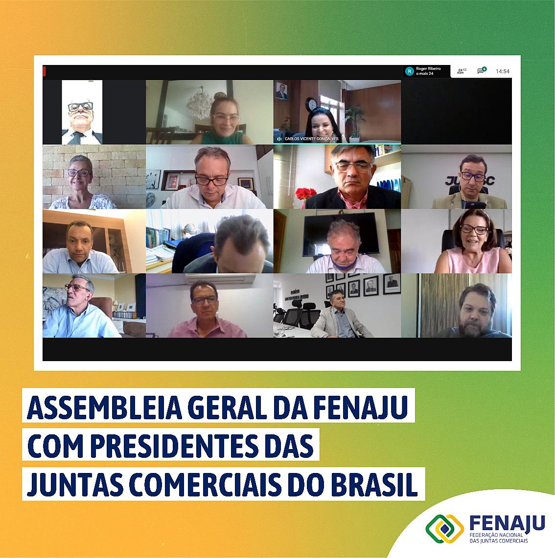 Assembleia Geral da FENAJU com presidentes das Juntas Comerciais do Brasil