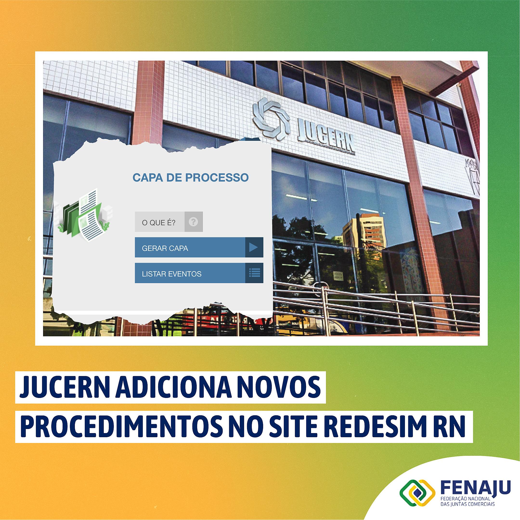 Jucern adiciona novos procedimentos no site Redesim RN