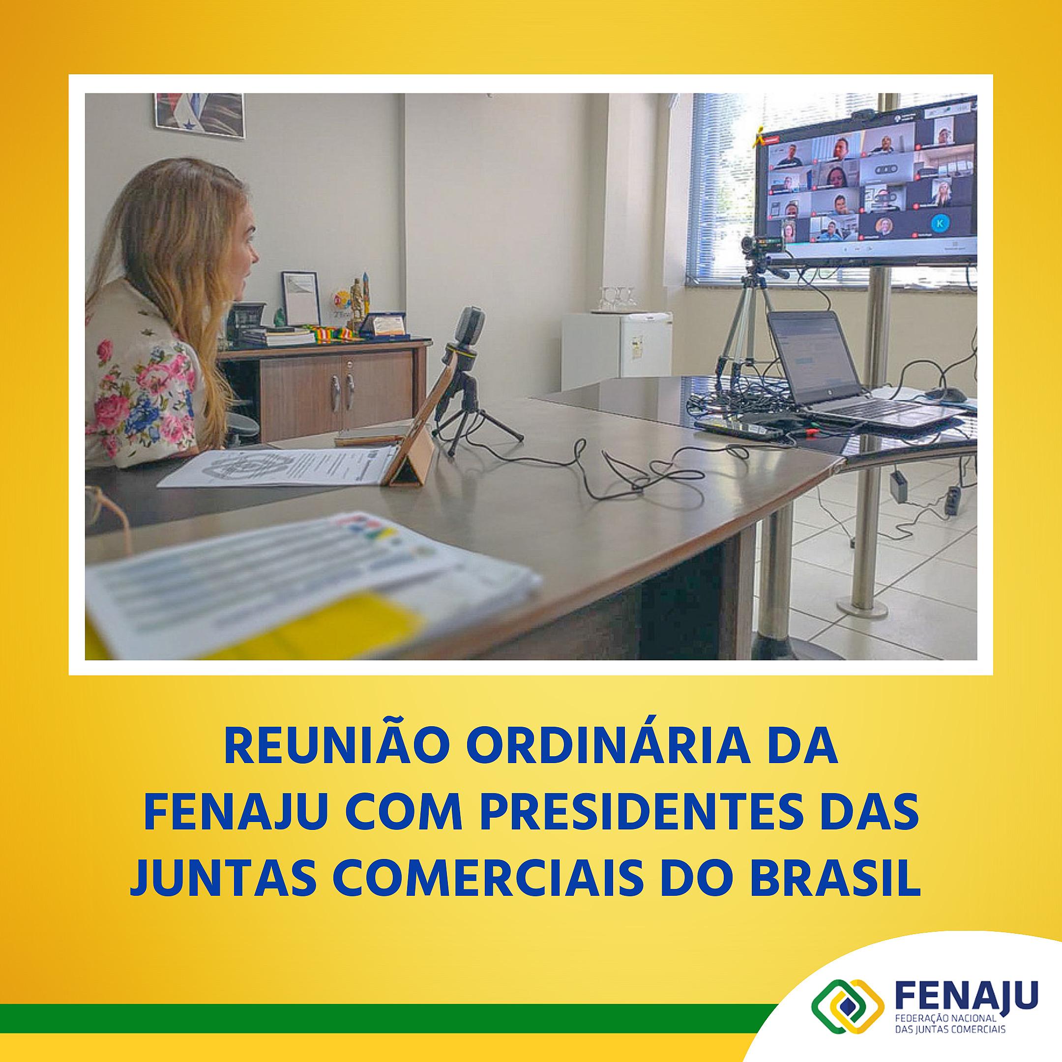 Reunião ordinária da FENAJU com presidentes das juntas comerciais do Brasil