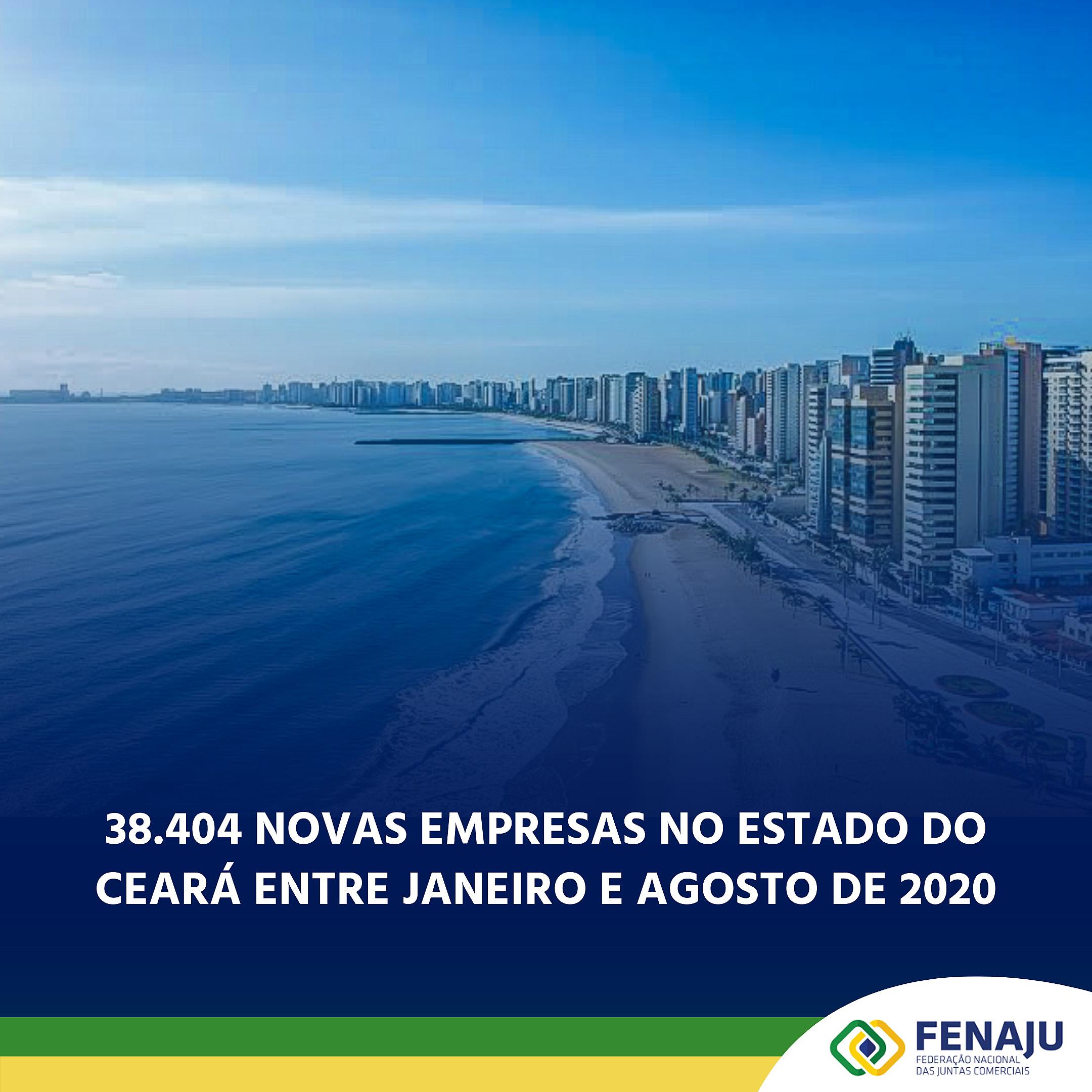 Read more about the article 38.404 novas empresas no Ceará entre janeiro e agosto de 2020