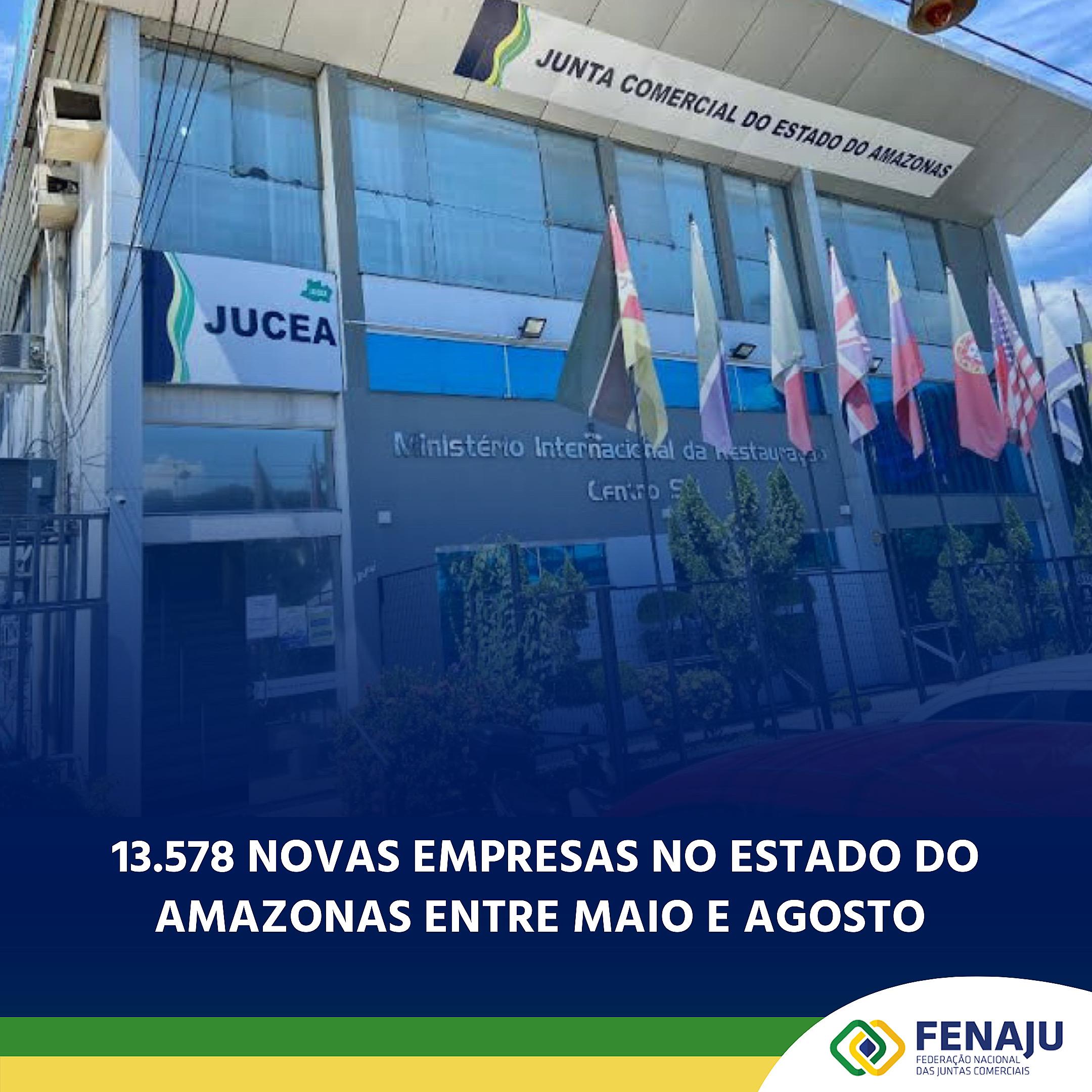 Read more about the article 13.578 novas empresas no estado do Amazonas entre maio e agosto de 2020