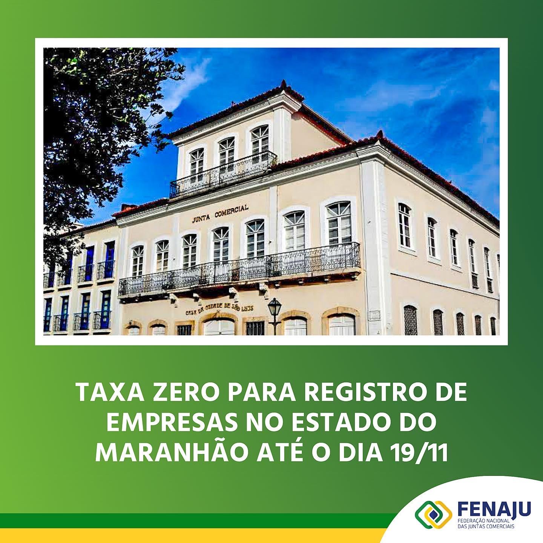 Taxa zero para registro de empresas no estado do Maranhão até o dia 19/11