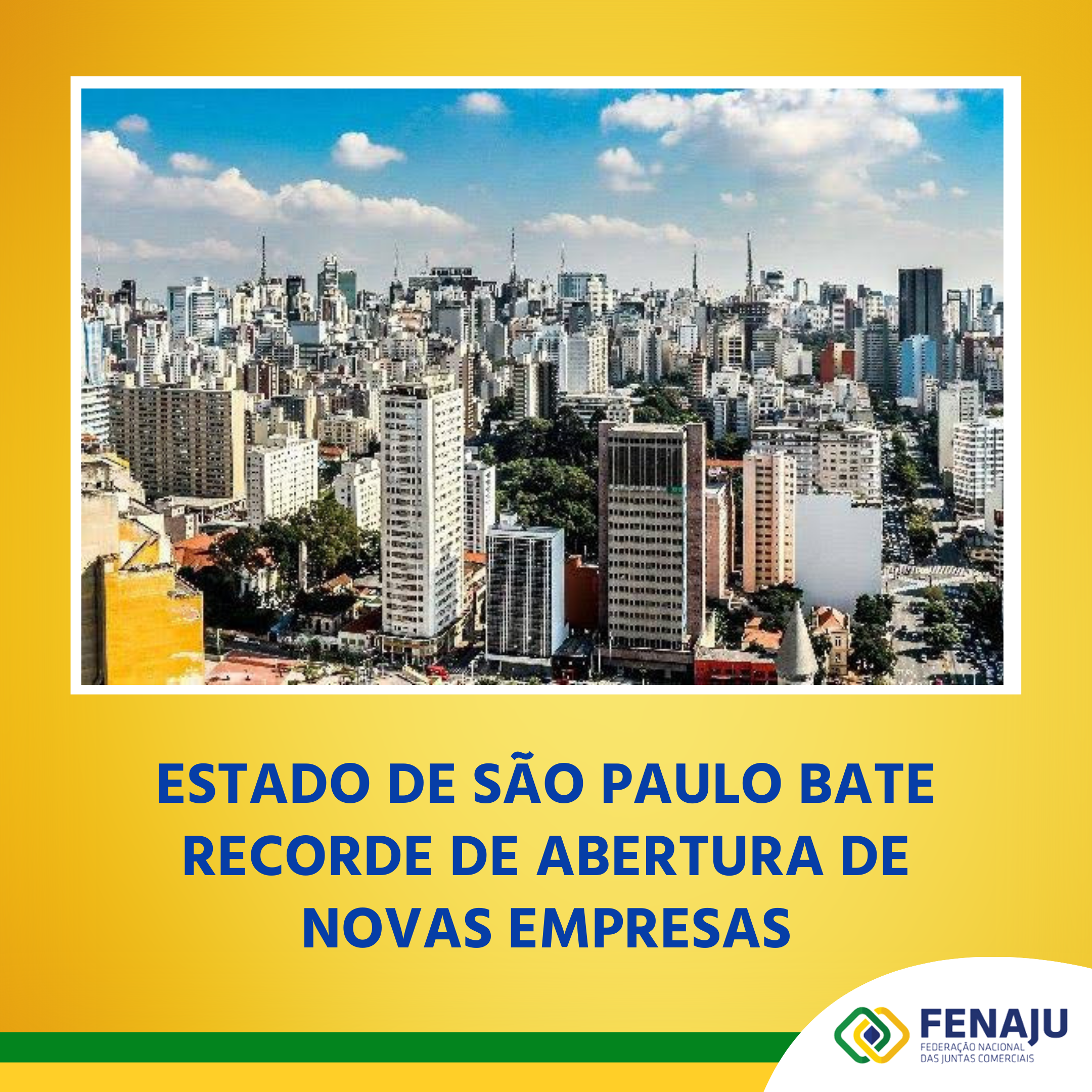 Estado de São Paulo bate recorde de abertura de novas empresas