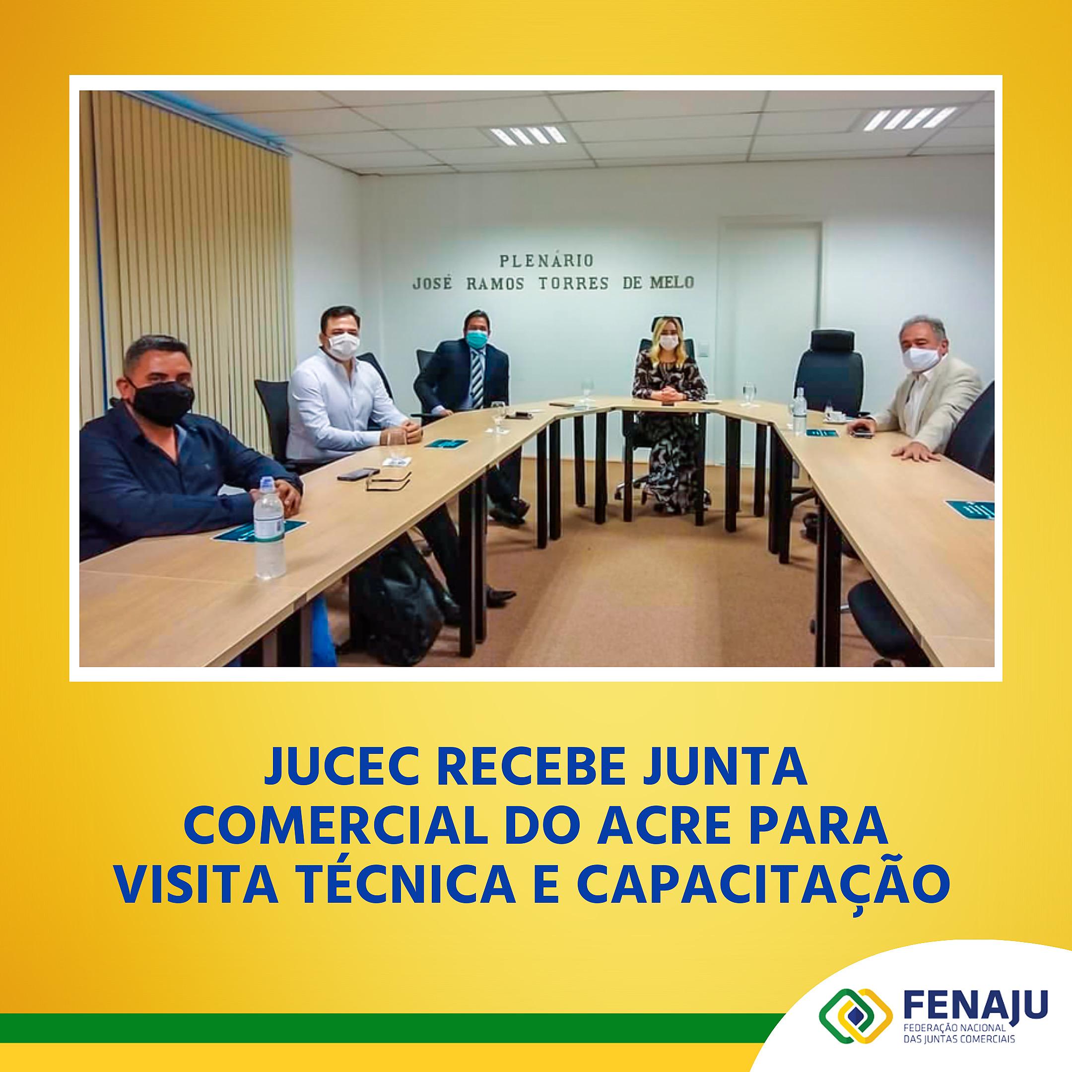 Jucec recebe Junta Comercial do Acre para visita técnica e capacitação