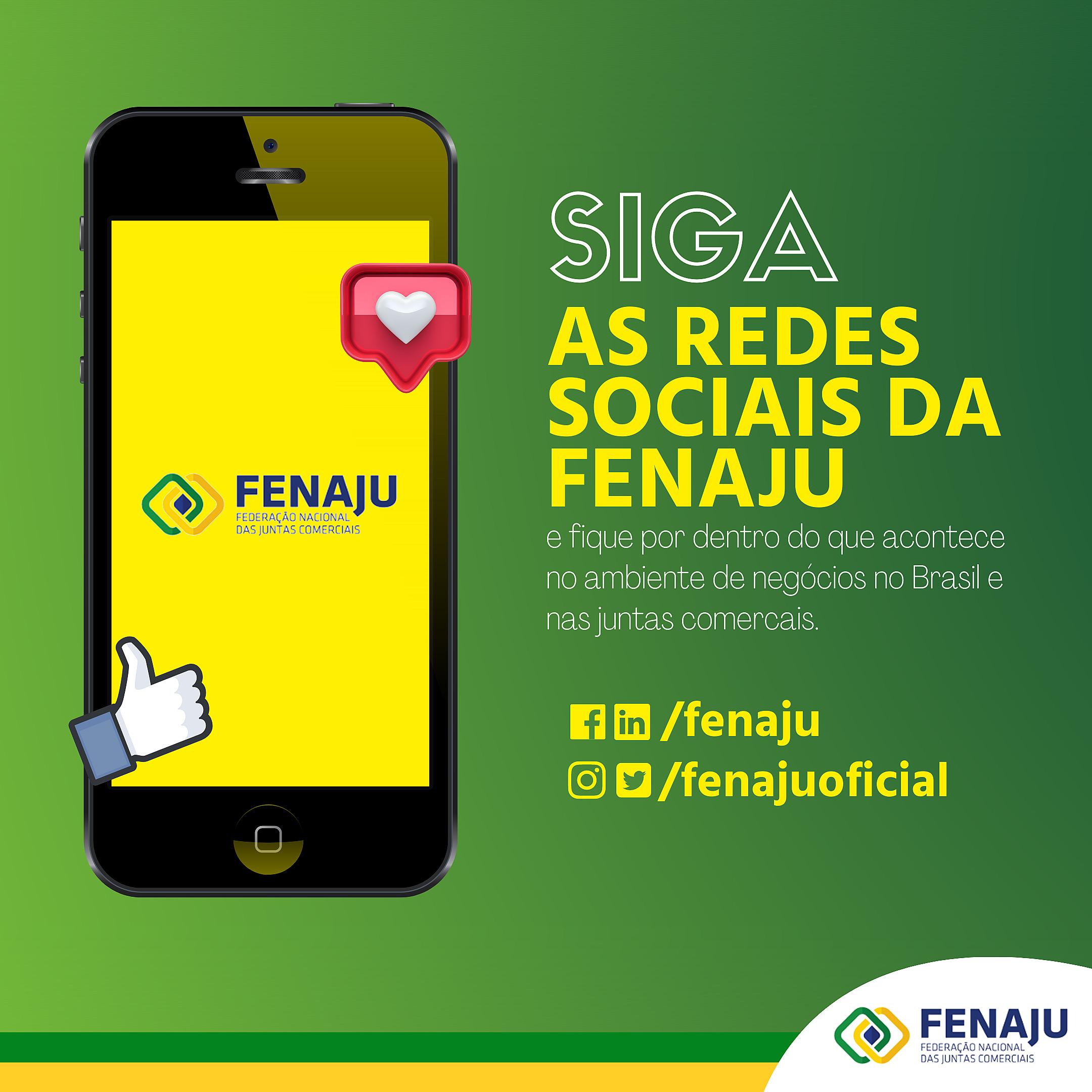 Siga a FENAJU nas redes sociais