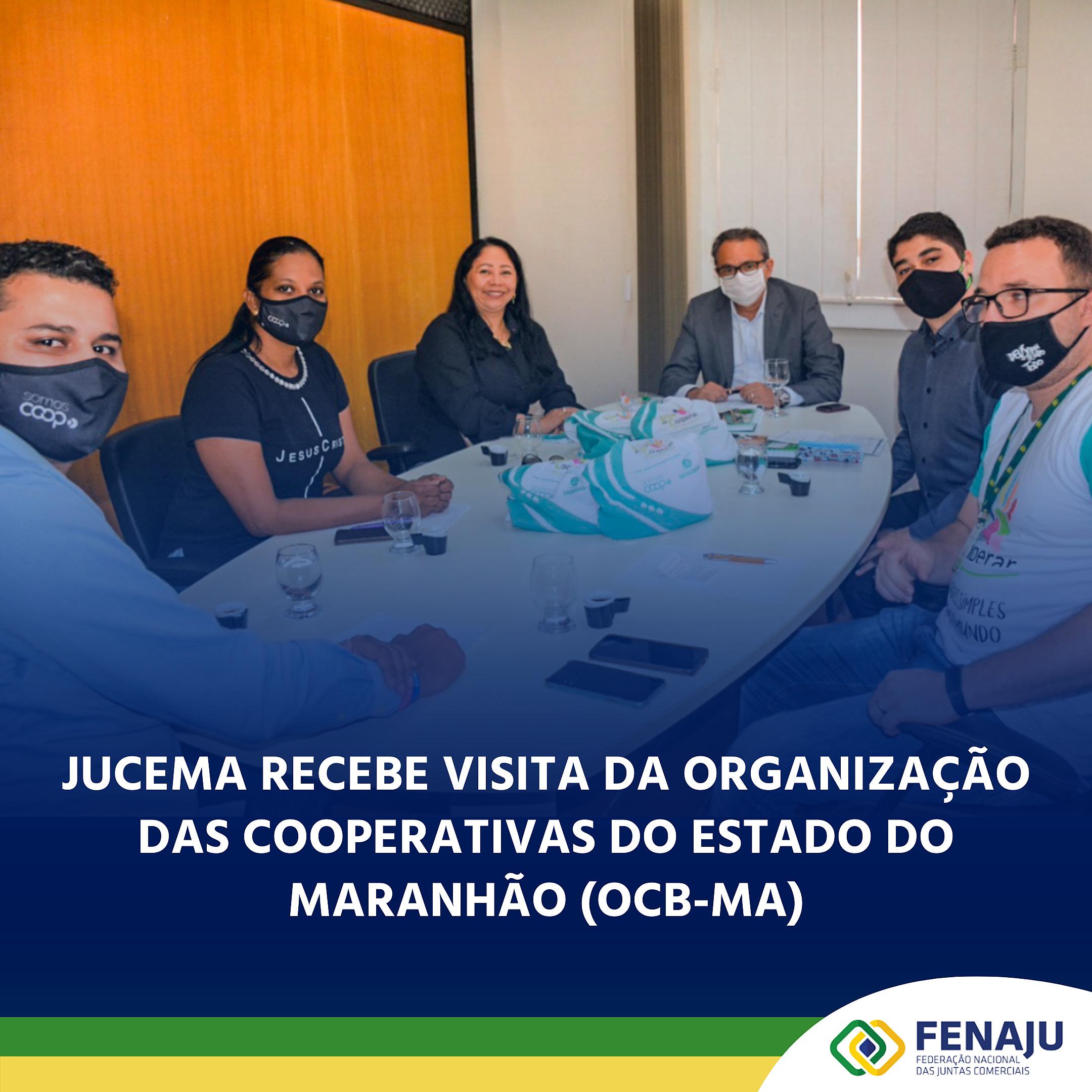 JUCEMA recebe visita da Organização das Cooperativas do Estado do Maranhão (OCB-MA)