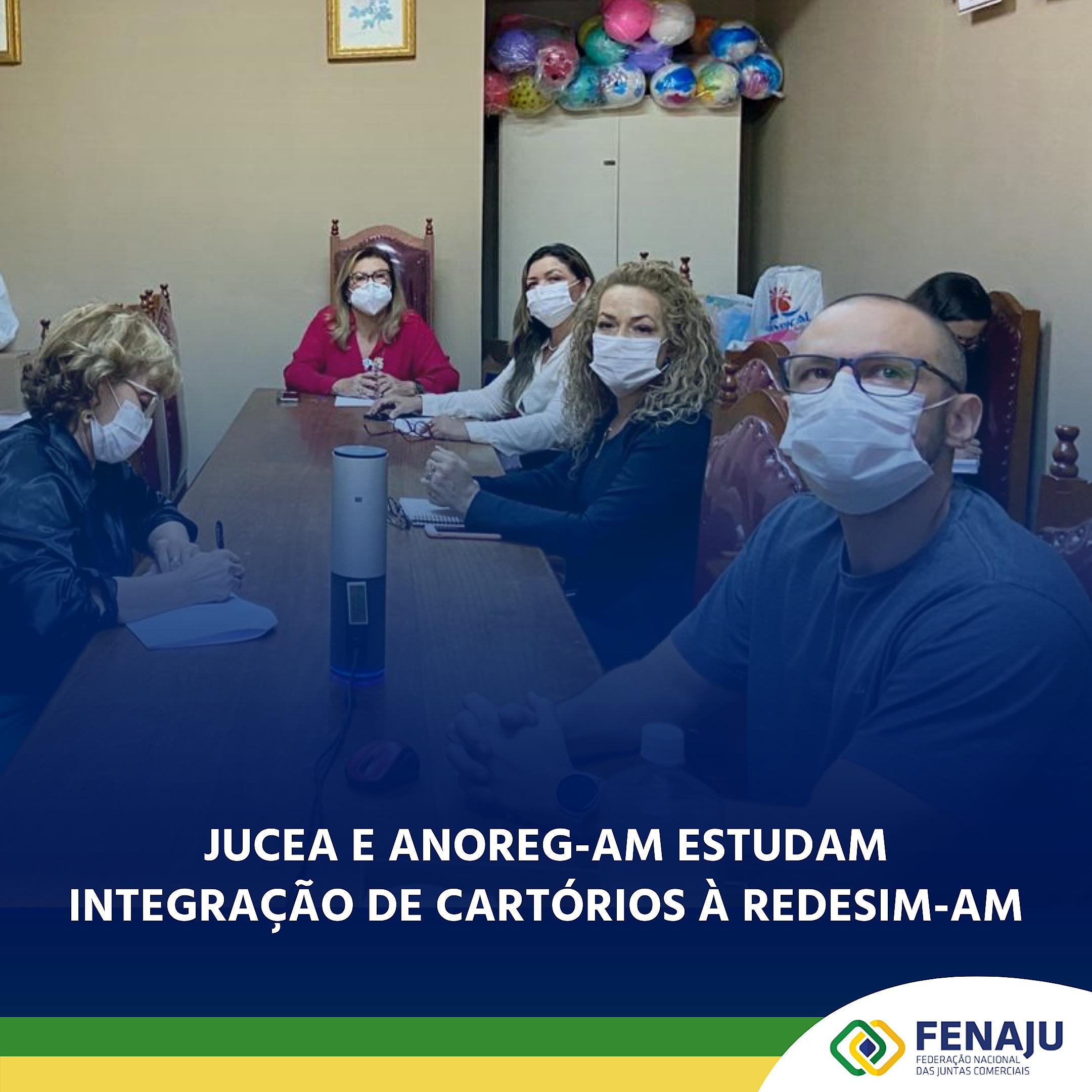 JUCEA e ANOREG-AM estudam integração de cartórios à REDESIM-AM