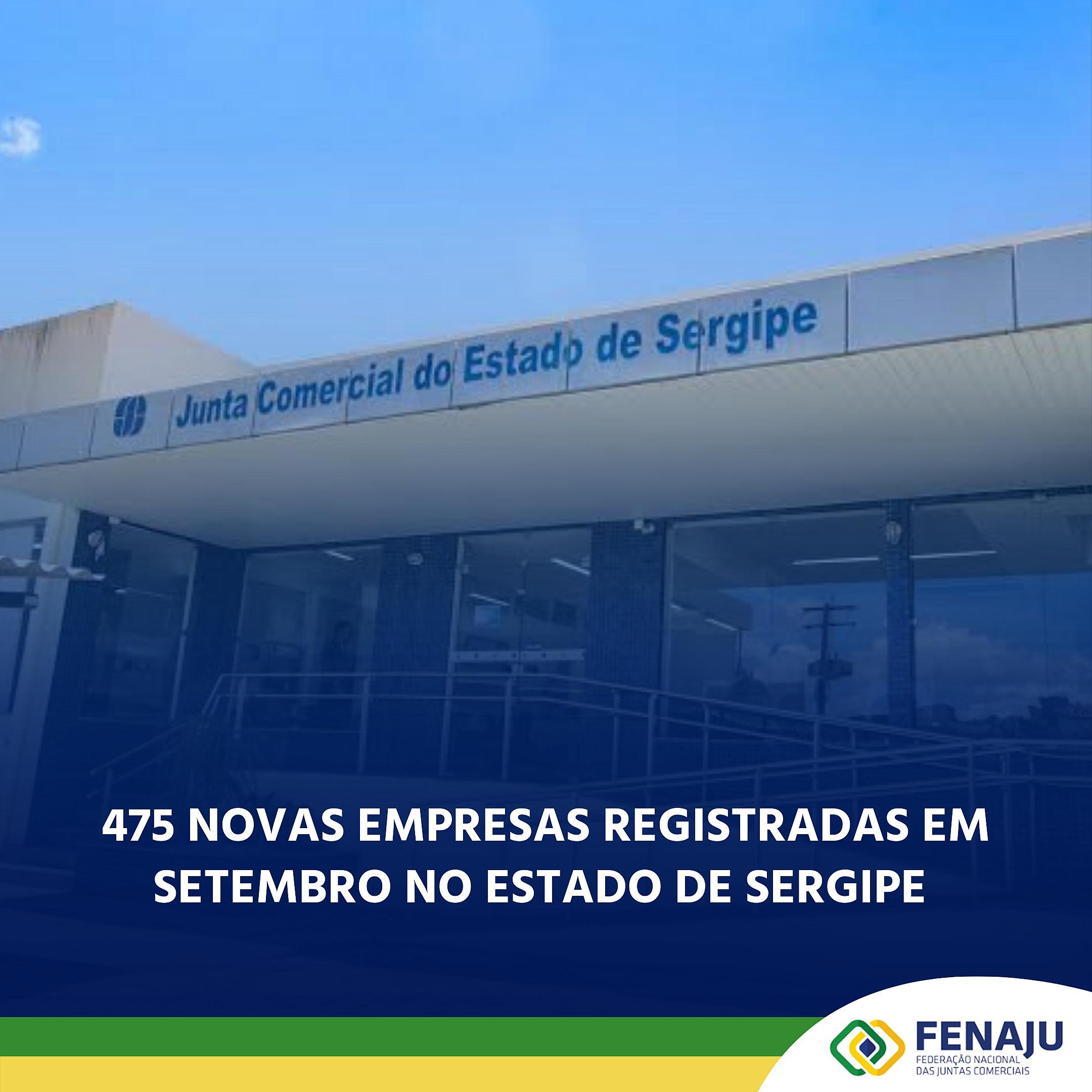 475 novas empresas registradas em setembro no estado de Sergipe