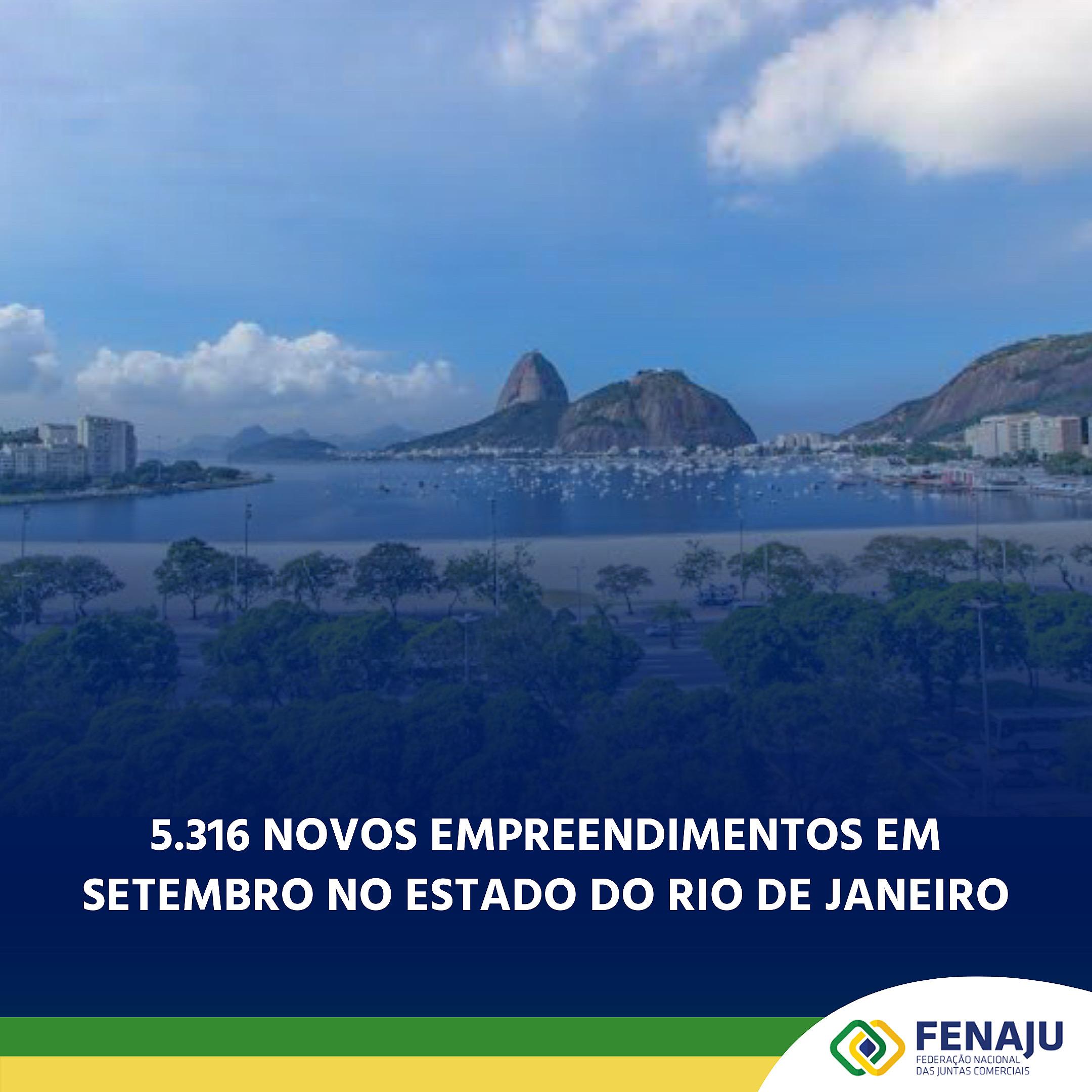 5.316 novos empreendimentos em setembro no Estado do Rio de Janeiro