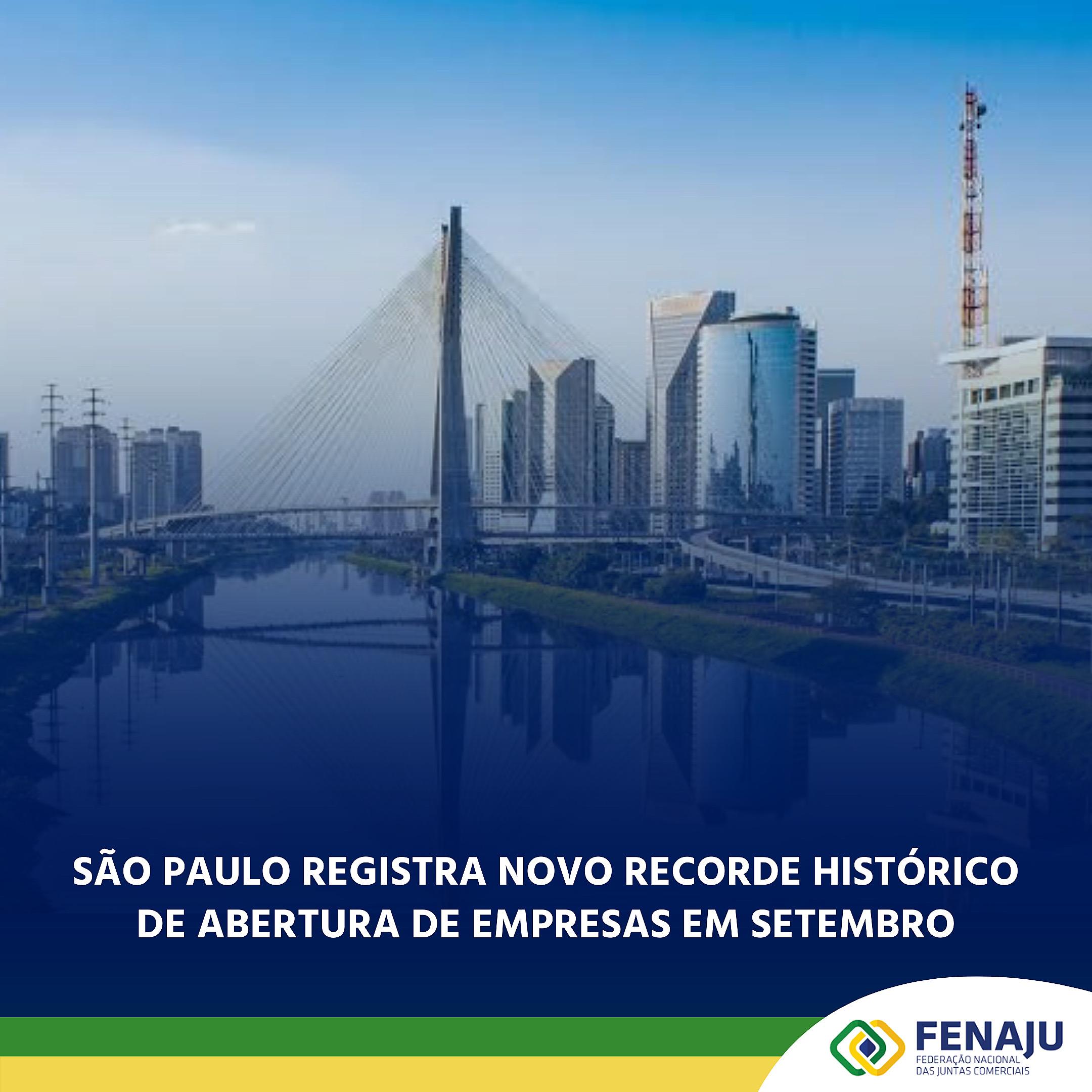 São Paulo registra novo recorde histórico de abertura de empresas em setembro