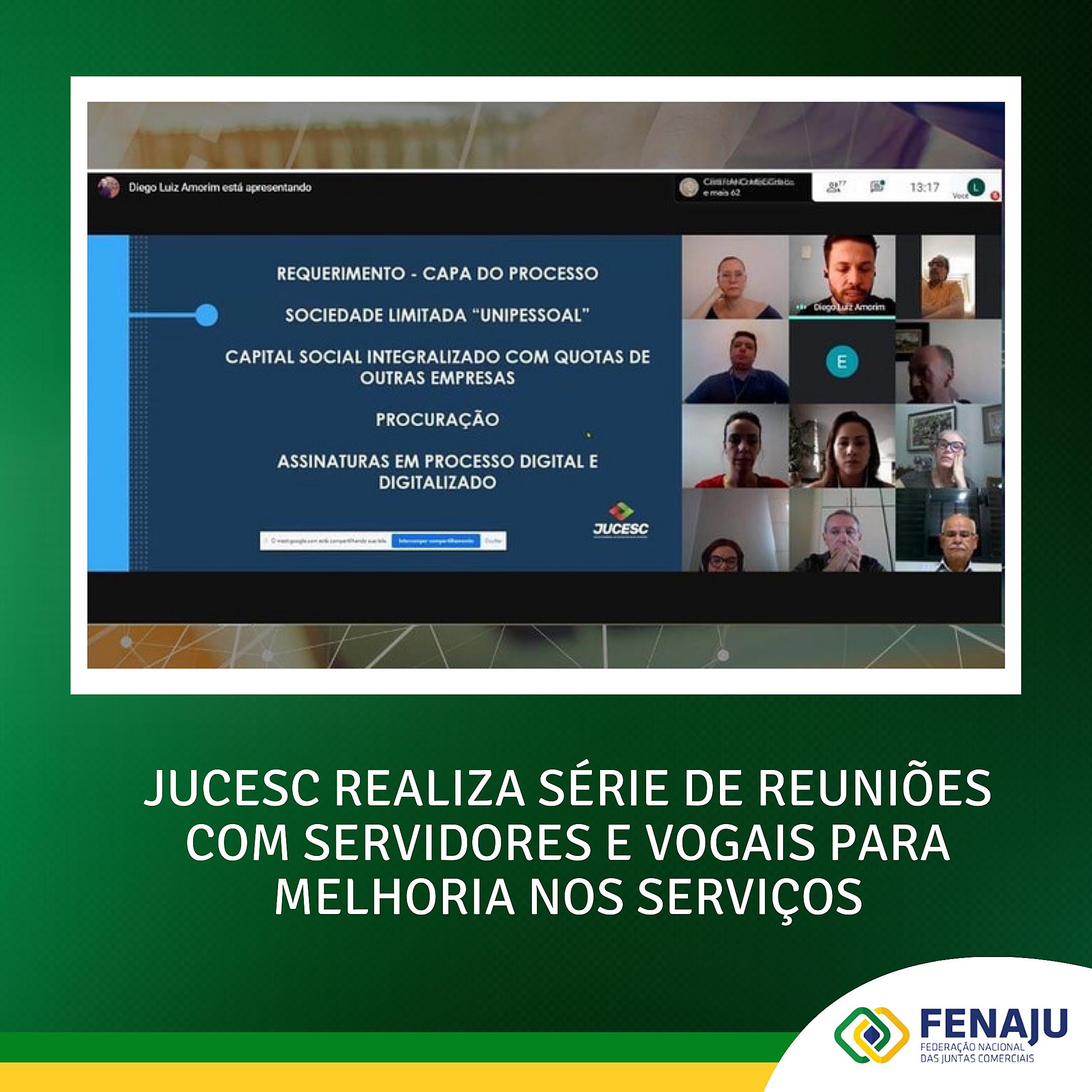 Jucesc realiza série de reuniões com servidores e vogais para melhoria nos serviços