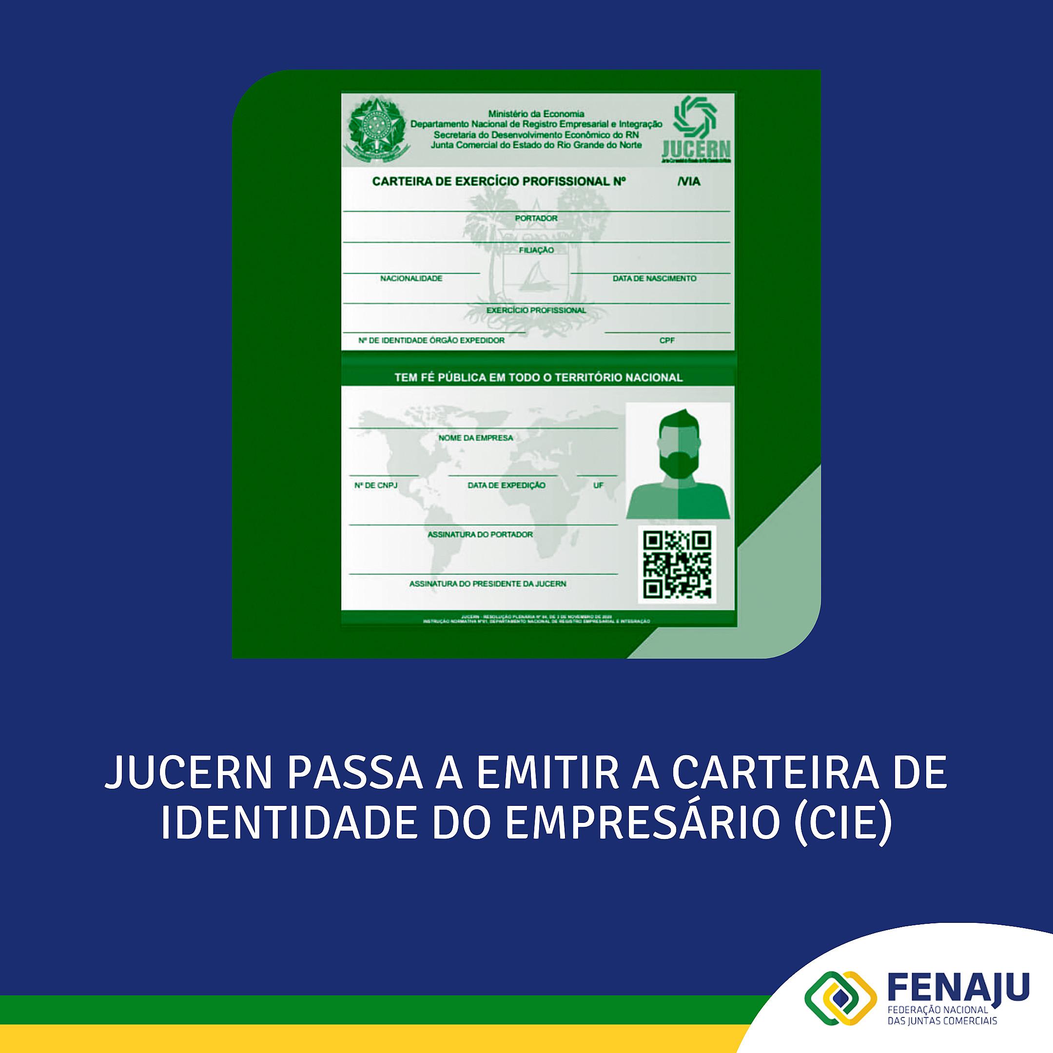 Jucern passa a emitir a Carteira de Identidade do Empresário (CIE)
