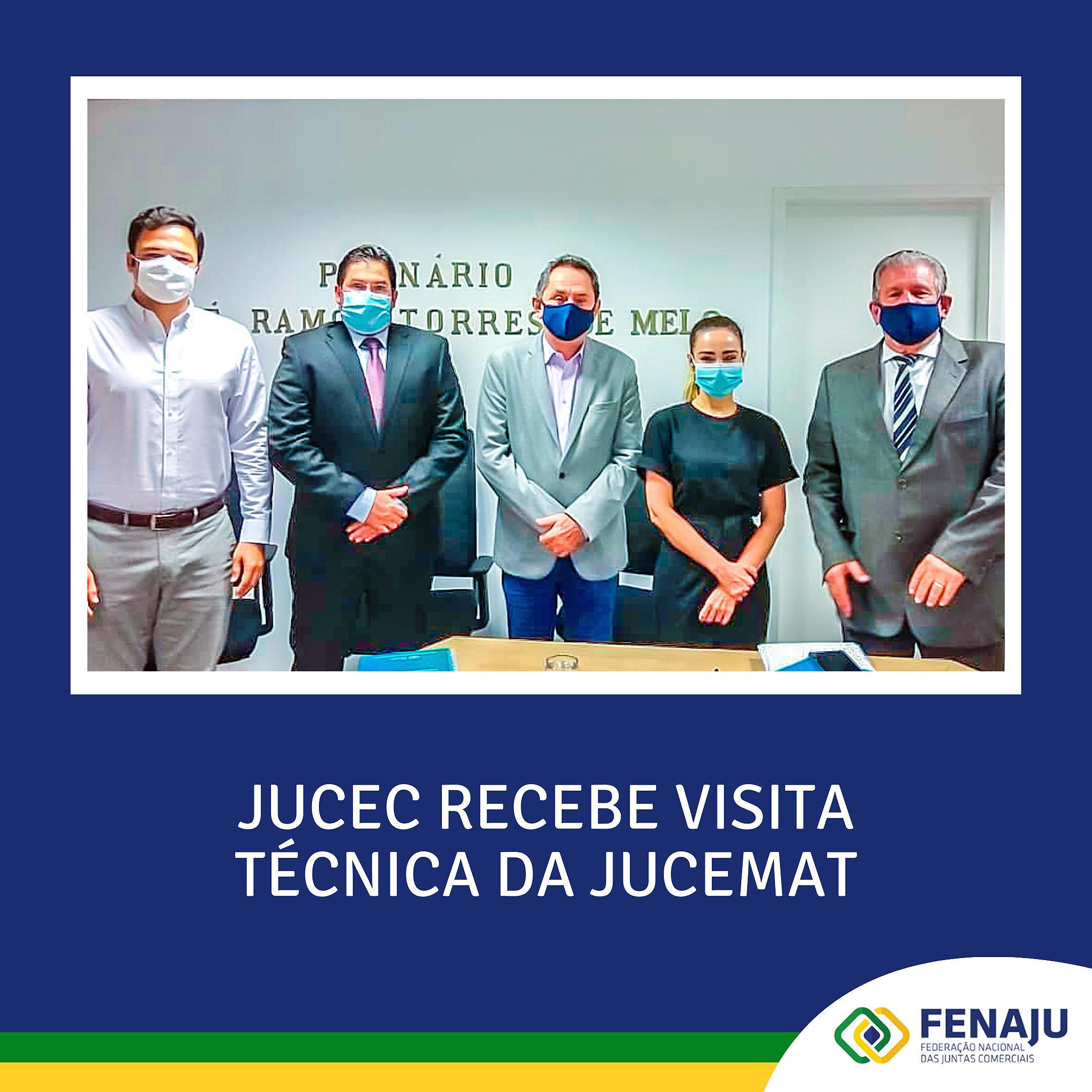 JUCEC recebe visita técnica da JUCEMAT