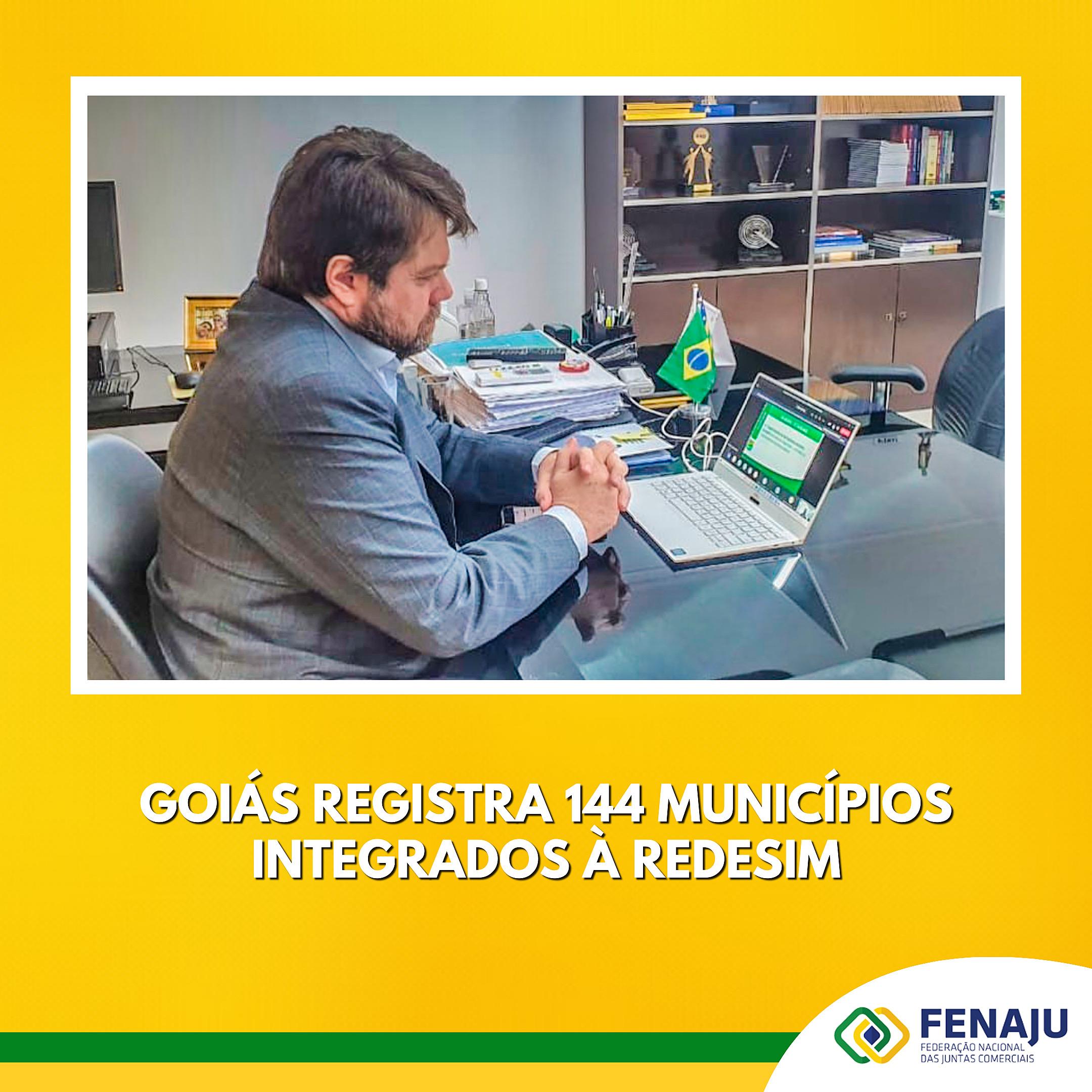 Goiás registra 144 municípios integrados à Redesim