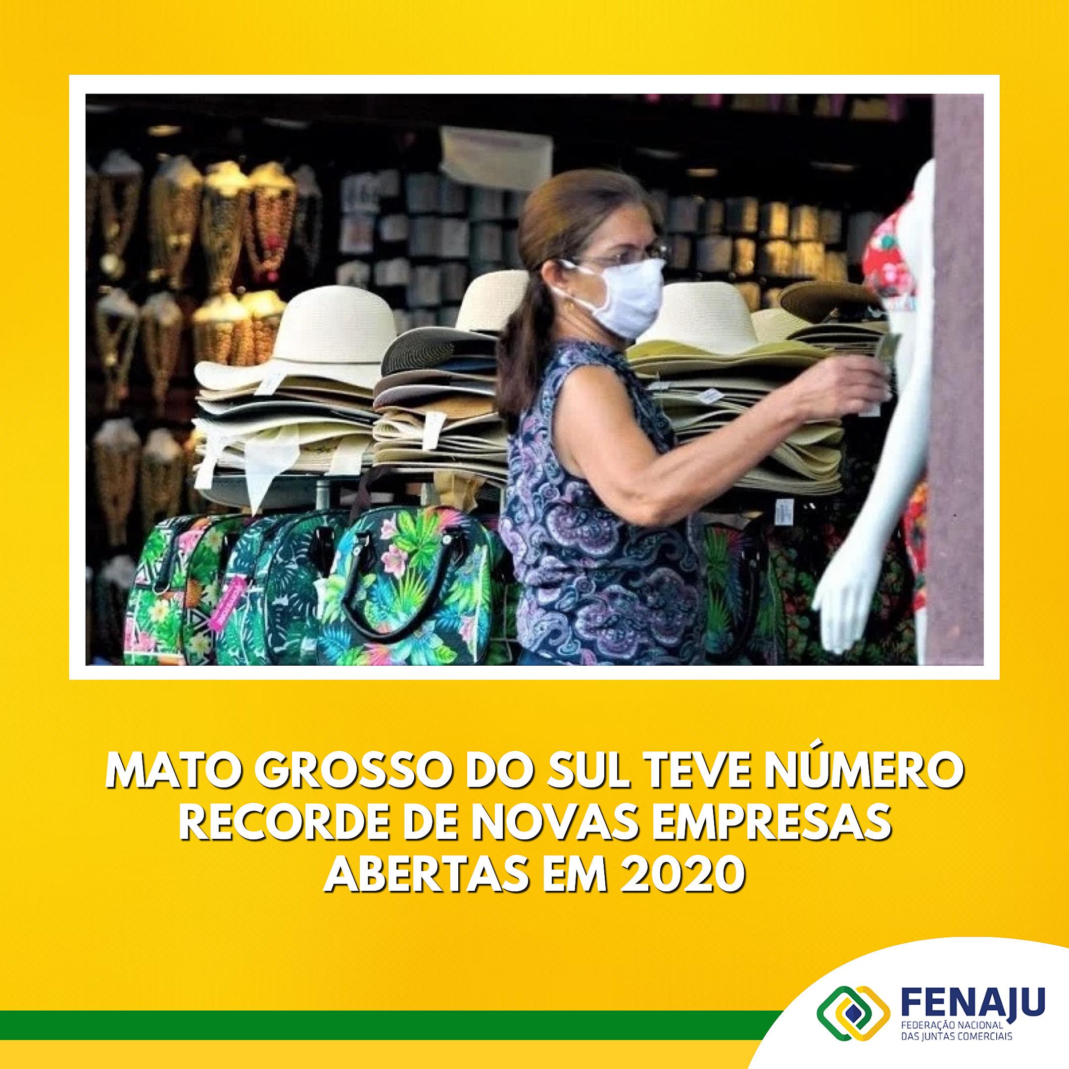 Mato Grosso do Sul teve número recorde de novas empresas abertas em 2020
