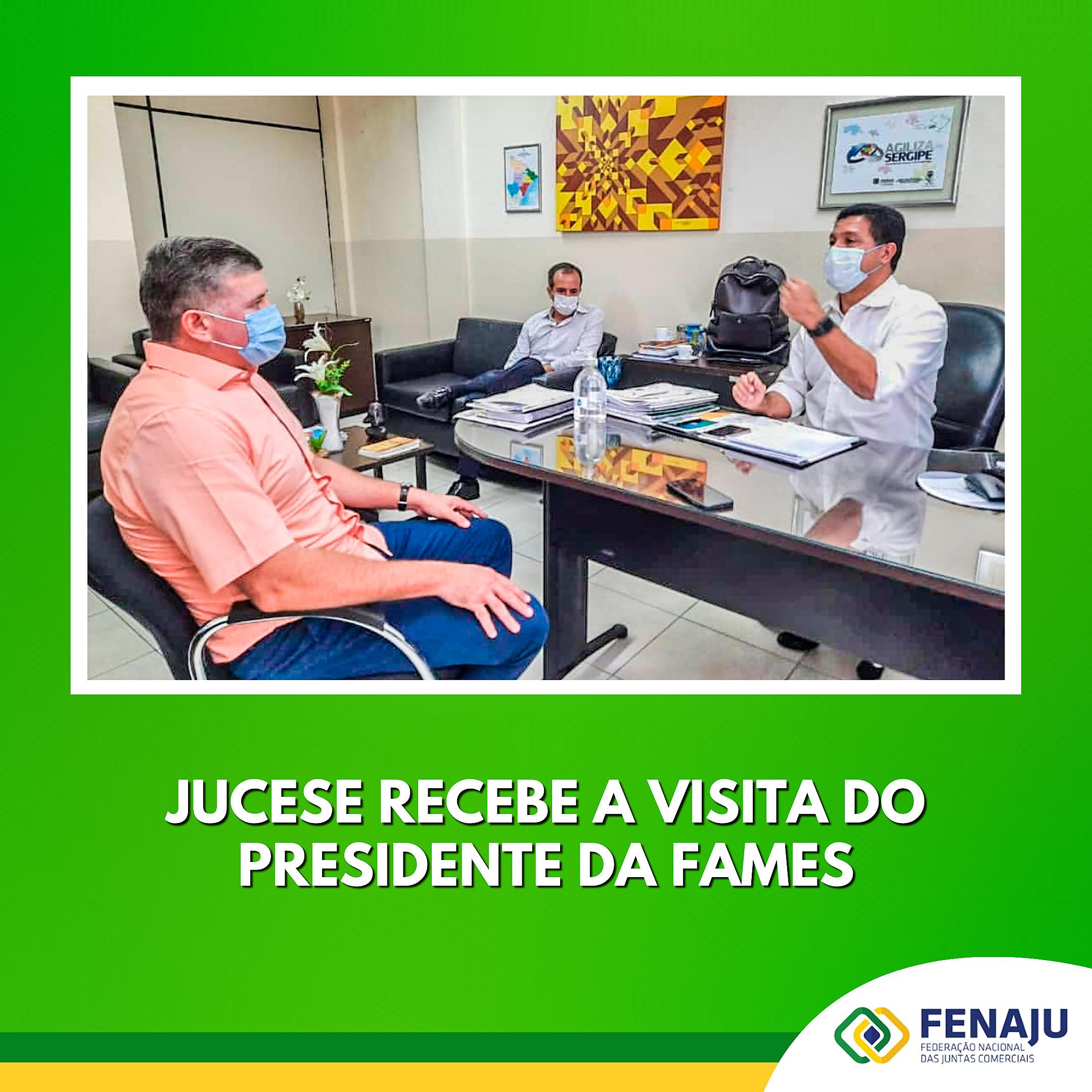 JUCESE recebe a visita do presidente da FAMES