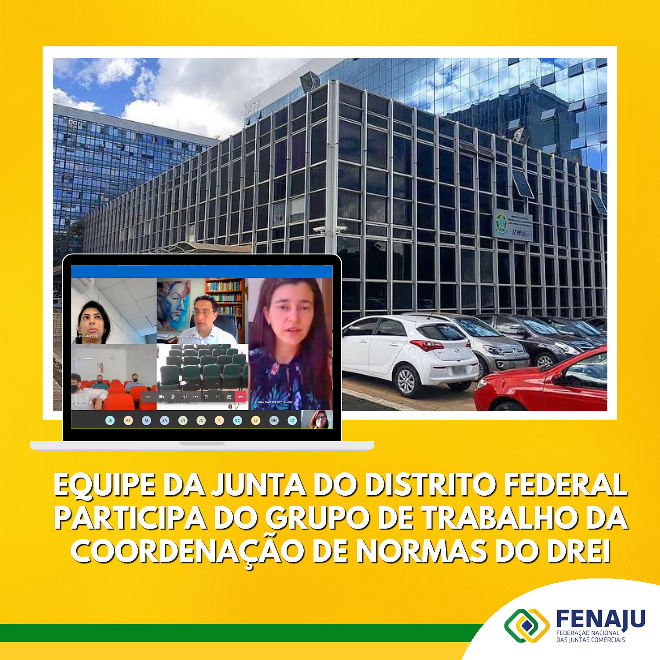 Equipe da Junta do Distrito Federal participa do Grupo de trabalho da coordenação de Normas do DREI