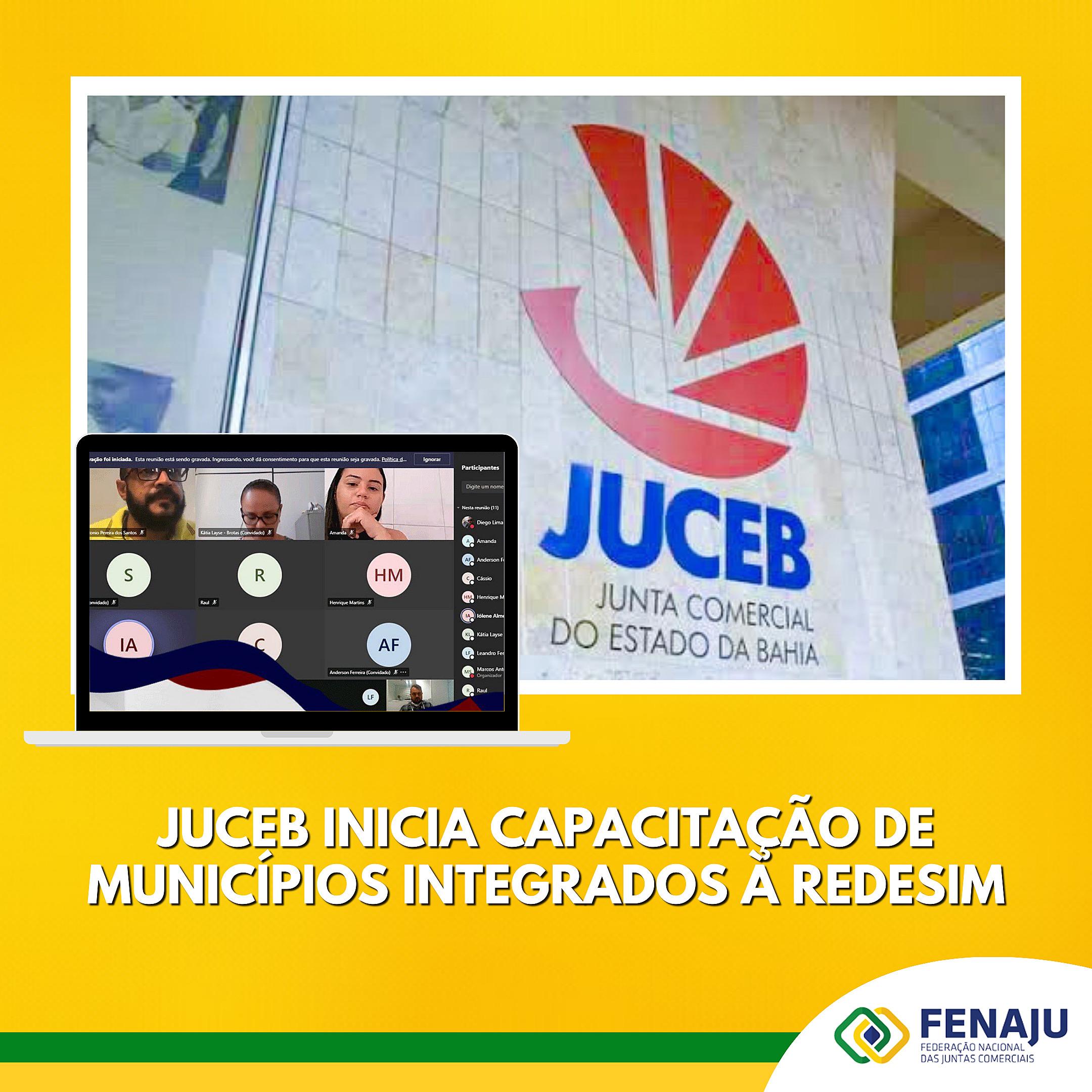 JUCEB inicia capacitação de municípios integrados à REDESIM