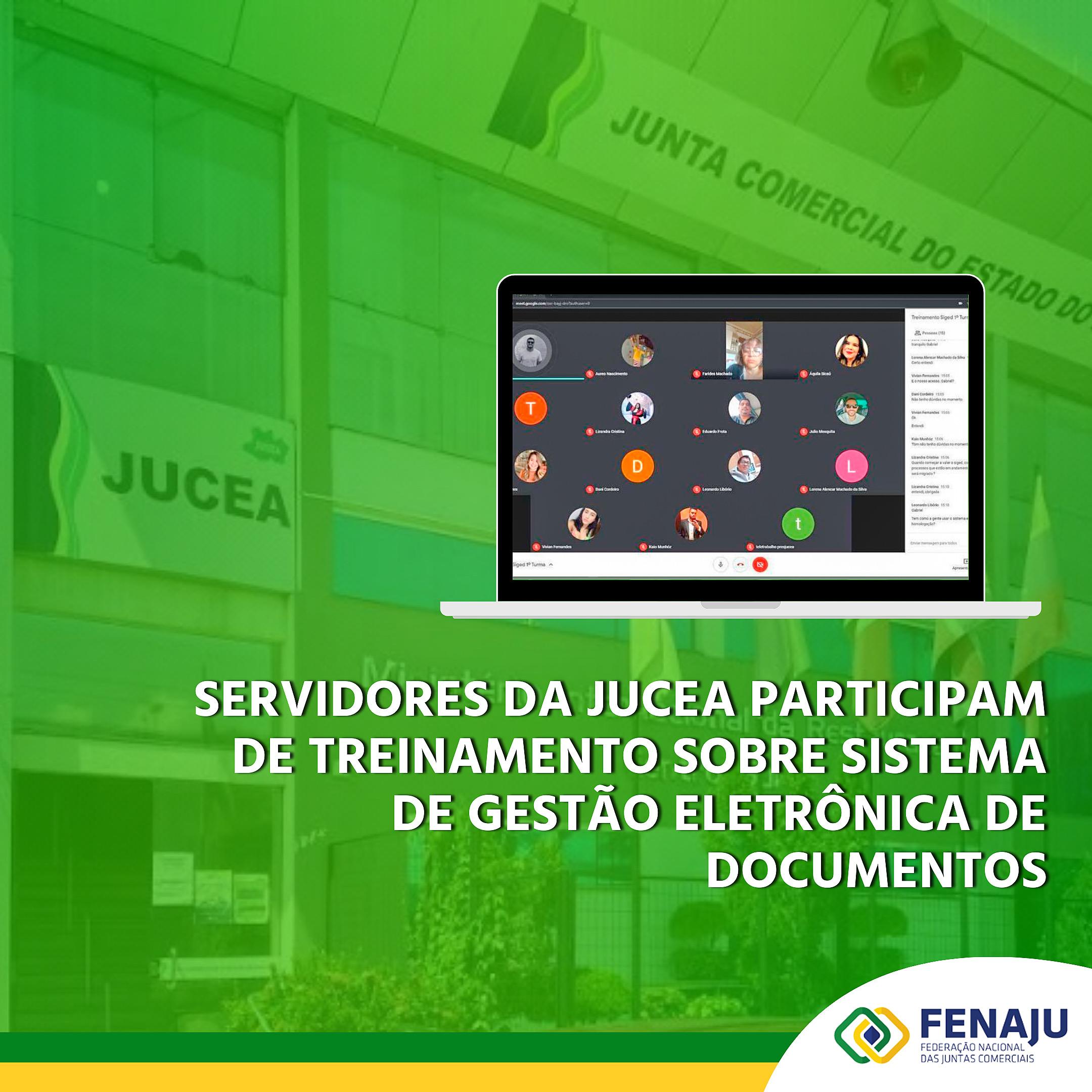 Servidores da JUCEA participam de treinamento sobre Sistema de Gestão Eletrônica de Documentos