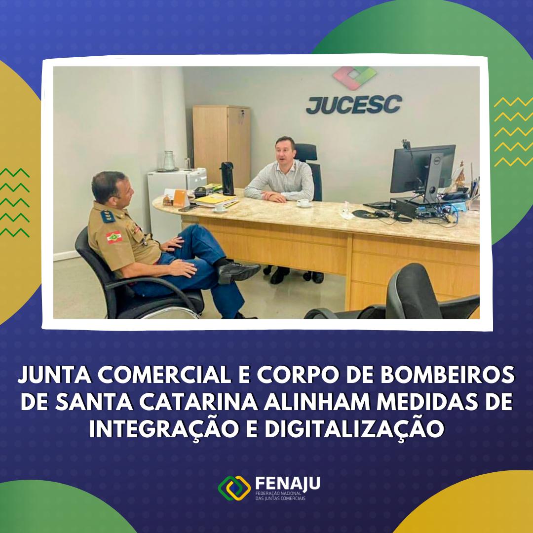 Read more about the article Junta comercial e Corpo de bombeiros de Santa Catarina alinham medidas de integração e digitalização