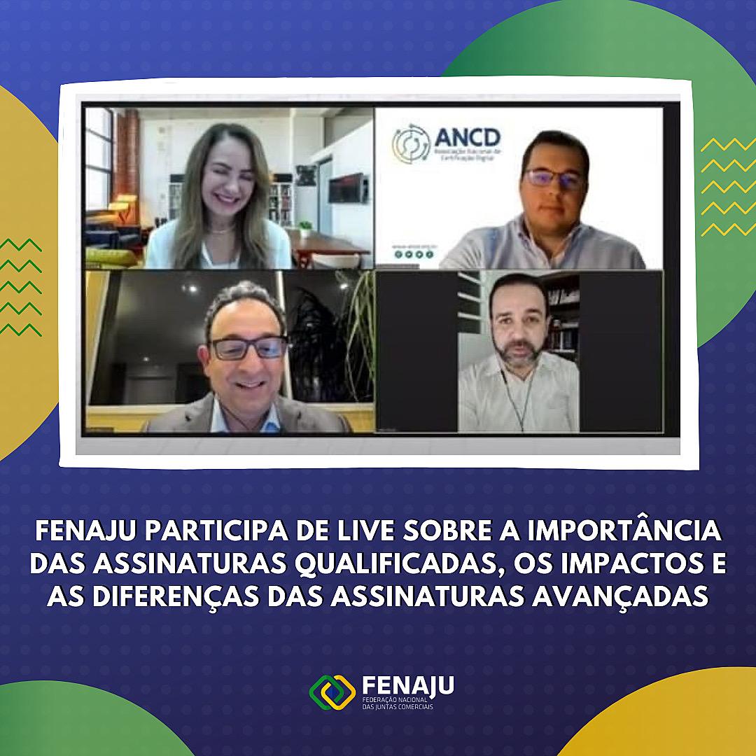 FENAJU participa de live sobre a importância das assinaturas qualificadas, os impactos e as diferenças das assinaturas avançadas