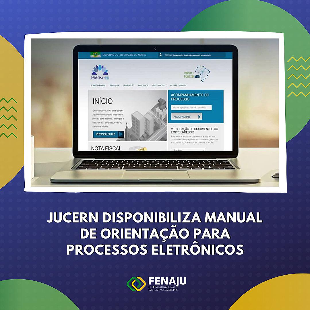 JUCERN disponibiliza manual de orientação para processos eletrônicos