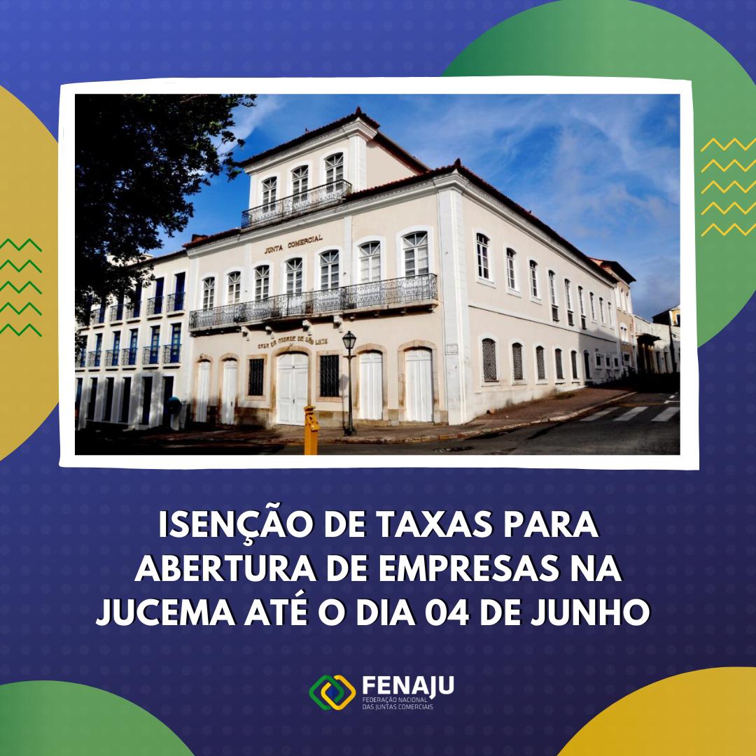 Isenção de taxas para abertura de empresas na JUCEMA até o dia 04 de junho