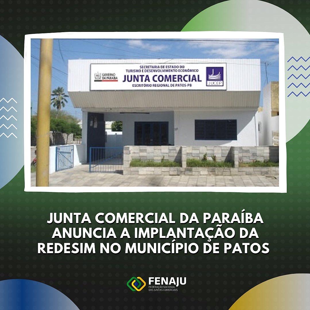 You are currently viewing Junta Comercial da Paraíba anuncia a implantação da REDESIM no município de Patos