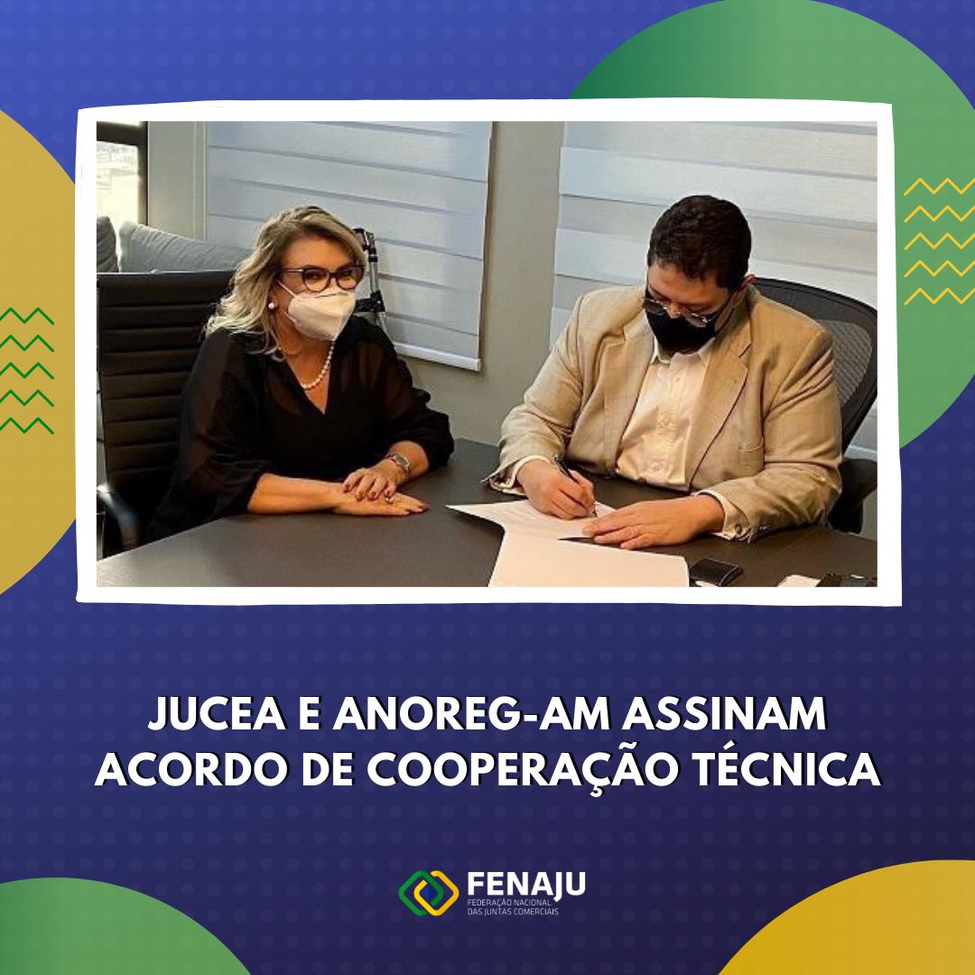Read more about the article Jucea e Anoreg-AM assinam Acordo de Cooperação Técnica