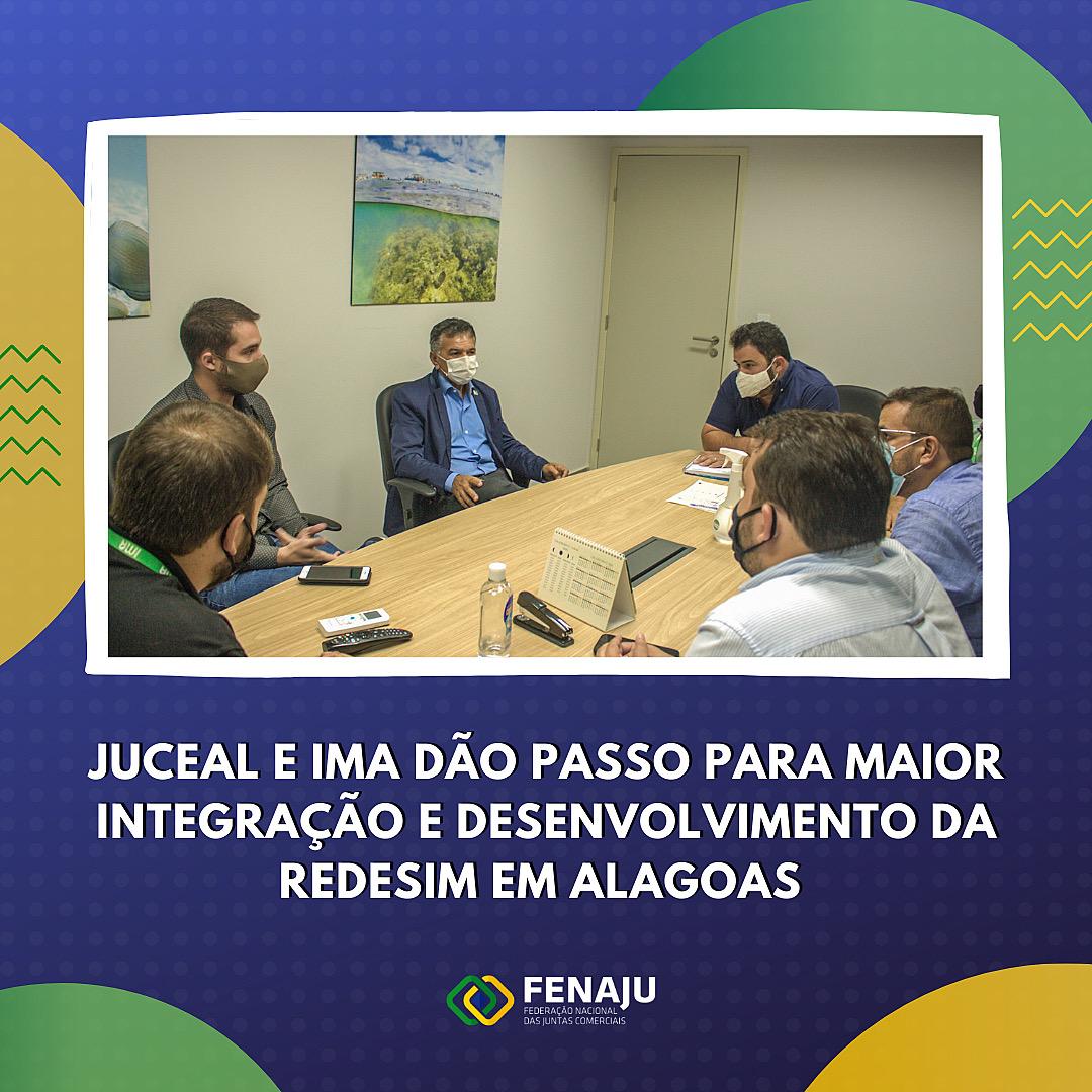 Juceal e IMA dão passo para maior integração e desenvolvimento da Redesim em Alagoas