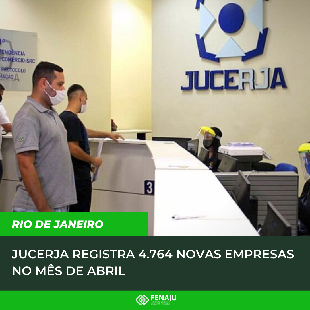 Read more about the article JUCERJA registra 4.764 novas empresas no mês de abril