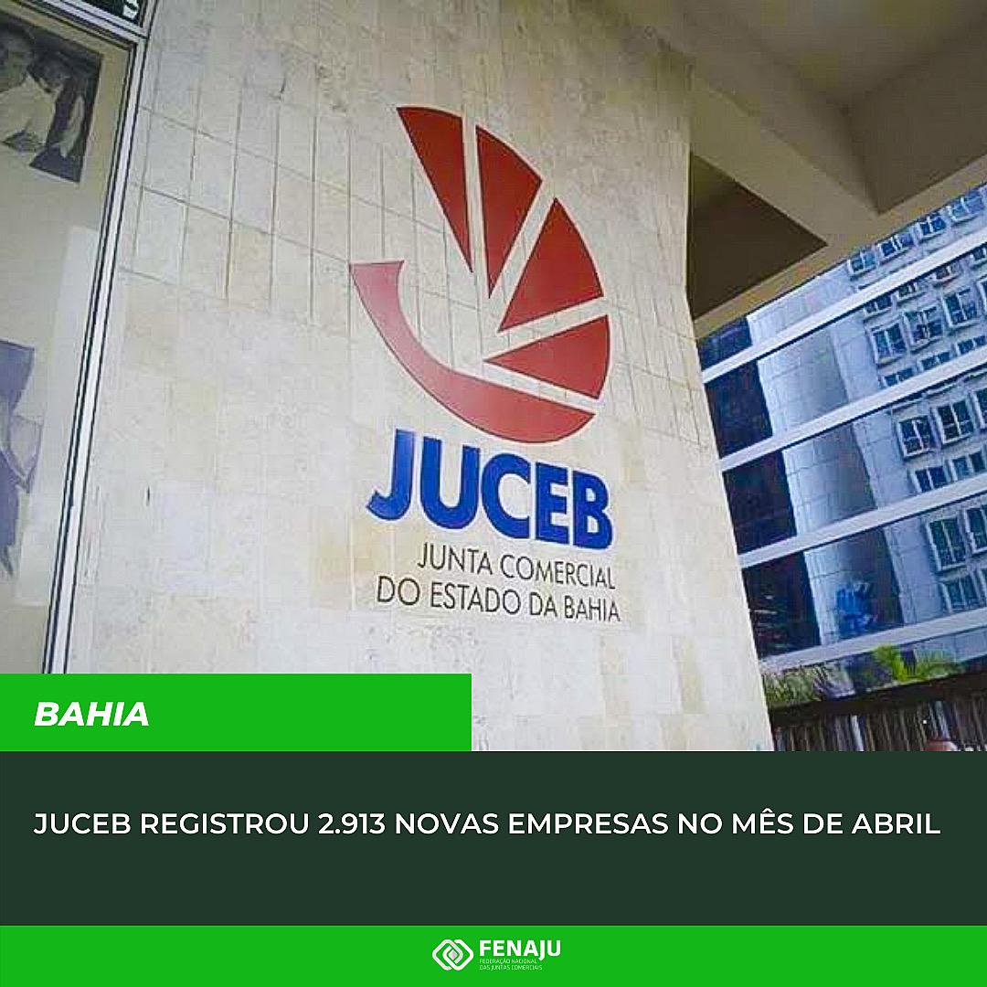 Read more about the article JUCEB registrou 2.913 novas empresas no mês de abril