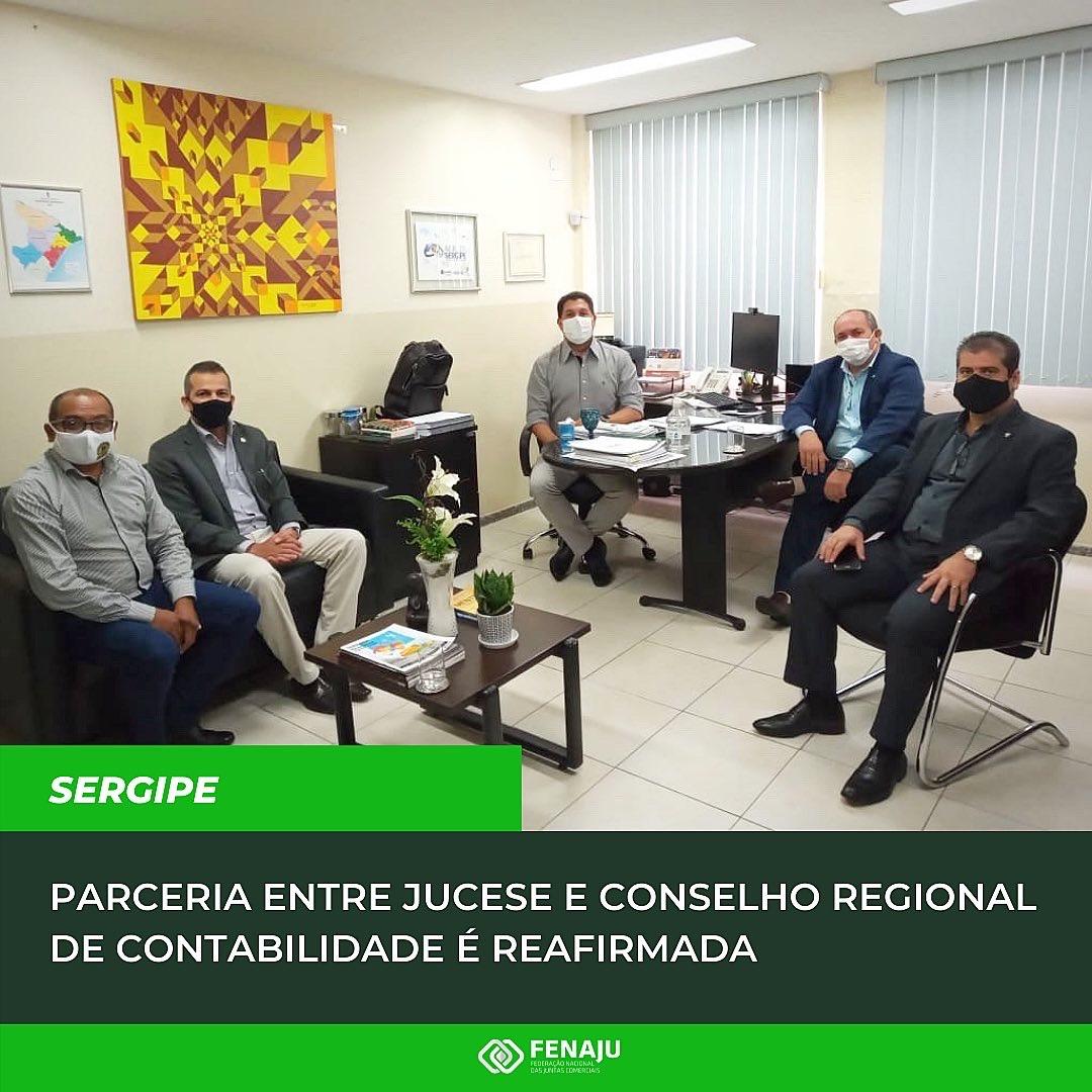 Read more about the article Parceria entre Jucese e Conselho Regional de Contabilidade é reafirmada
