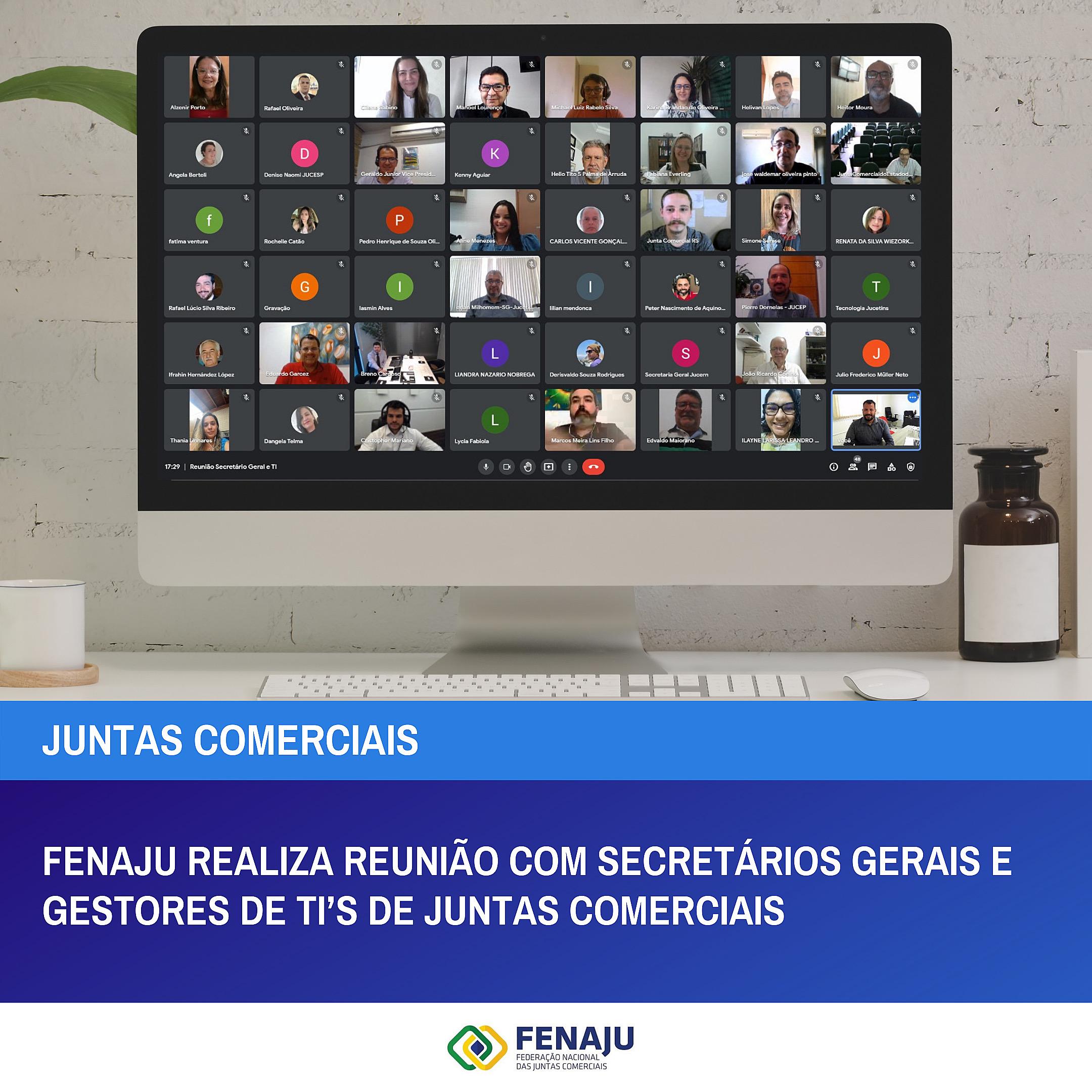 You are currently viewing FENAJU realiza reunião com Secretários Gerais e gestores de TI's de Juntas Comerciais
