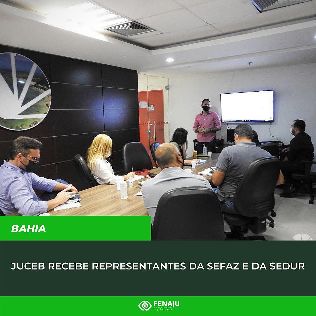Read more about the article Juceb recebe representantes da Sefaz e da Sedur