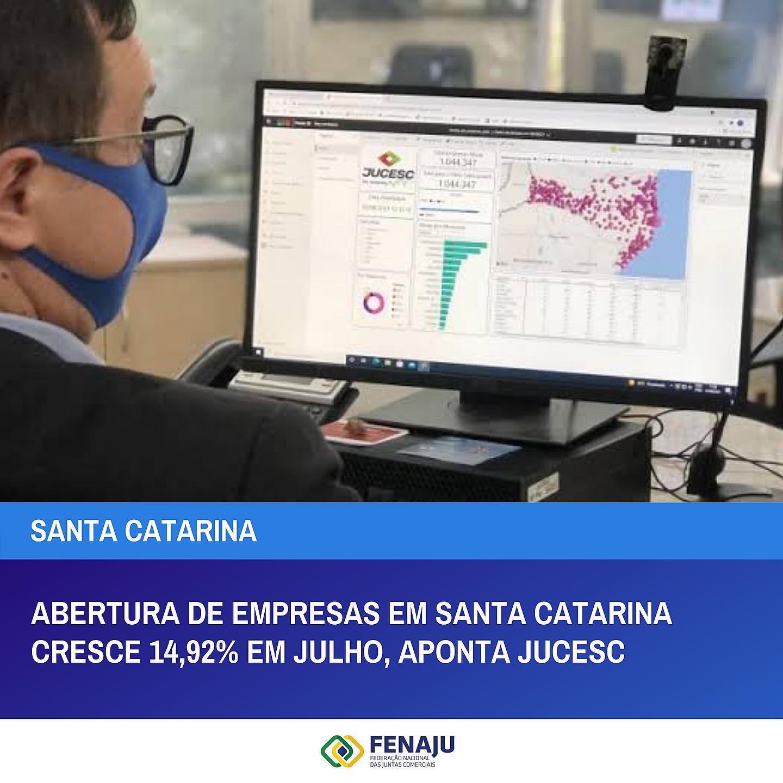 Read more about the article Abertura de empresas em Santa Catarina cresce 14,92% em julho, aponta Jucesc