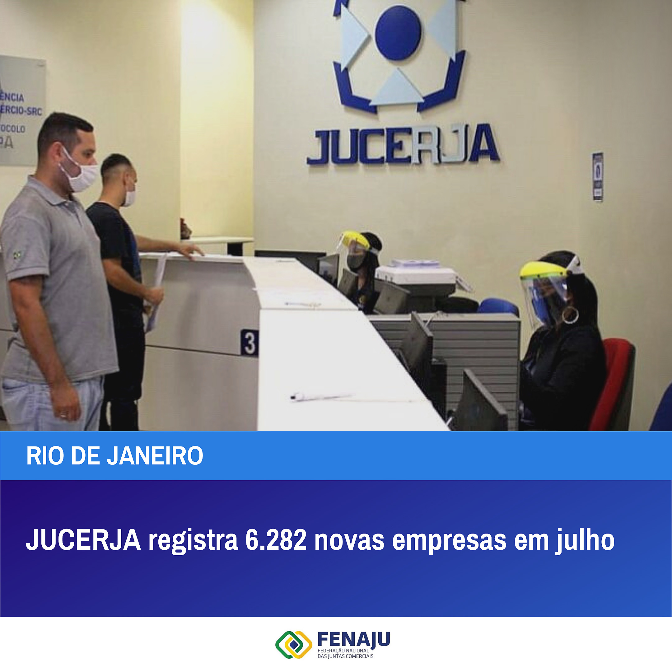 Read more about the article JUCERJA registra 6.282 novas empresas em julho de 2021