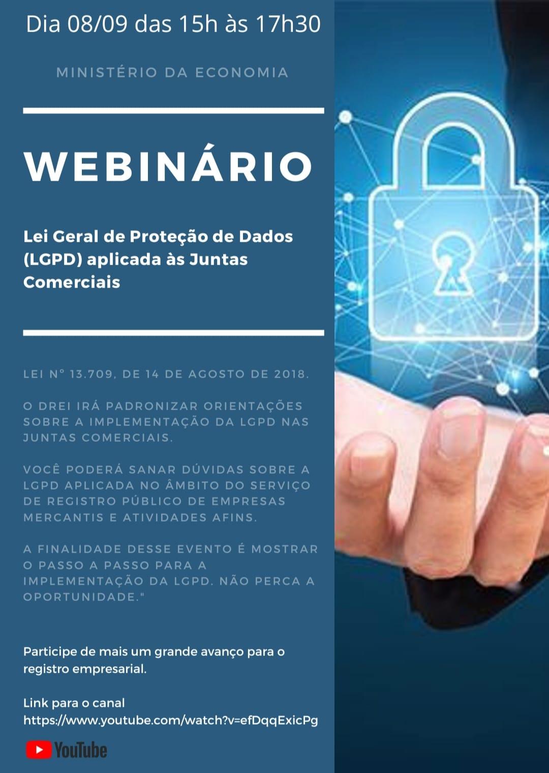 Read more about the article DREI realizará capacitação sobre a LGPD para servidores das Juntas Comerciais